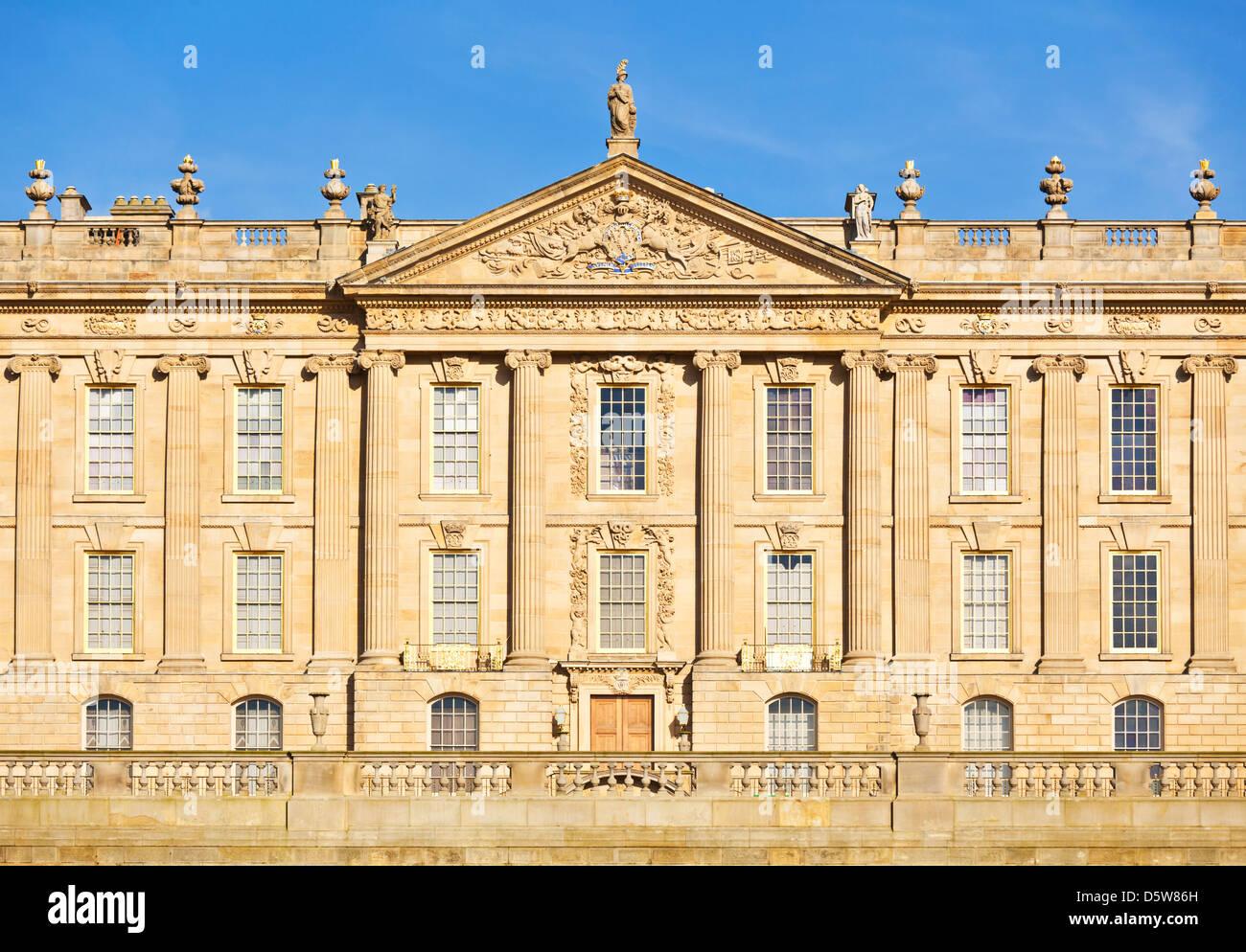 Chatsworth House, Derbyshire, England, UK, GB, EU, Europe - Stock Image