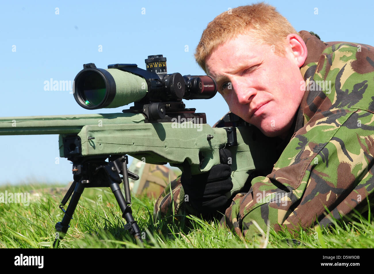 British sniper - Stock Image