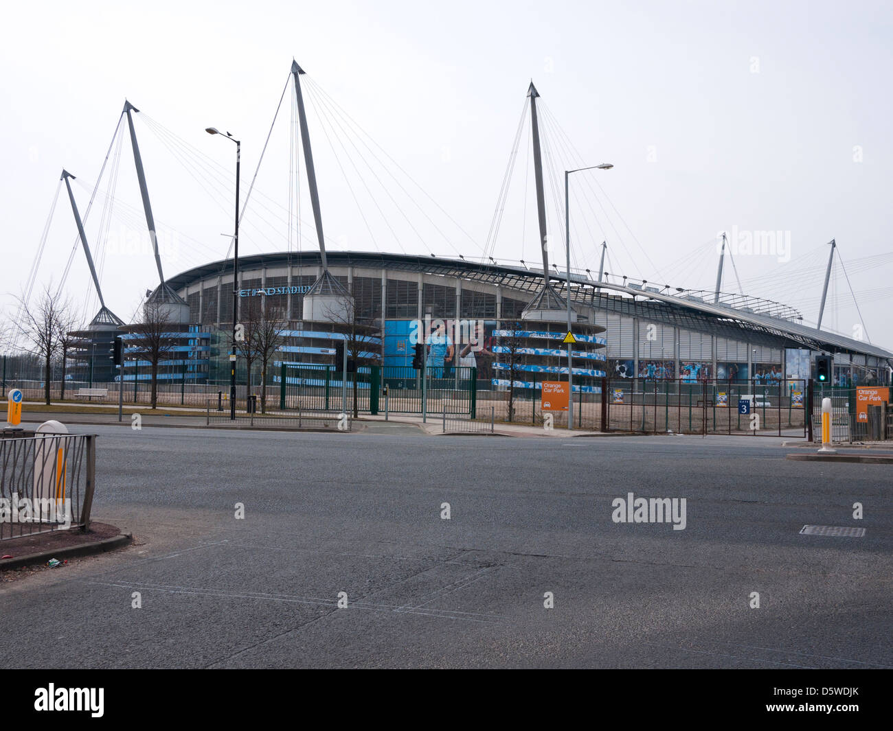 Manchester City Football Club The Etihad Stadium, Manchester UK. - Stock Image