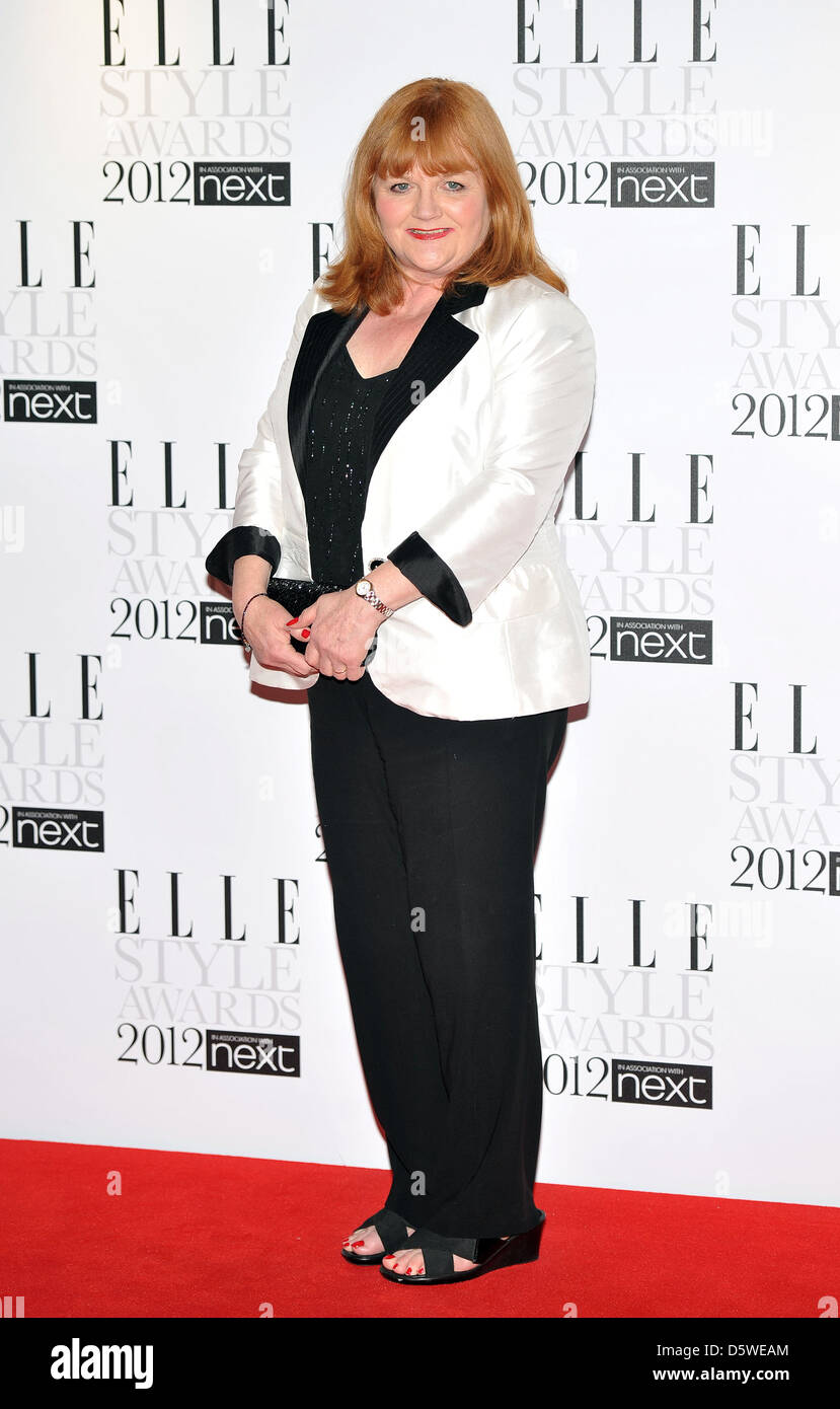 Lesley Nicol ELLE Style Awards held at the Savoy - Arrivals. London, England - 13.02.12 - Stock Image