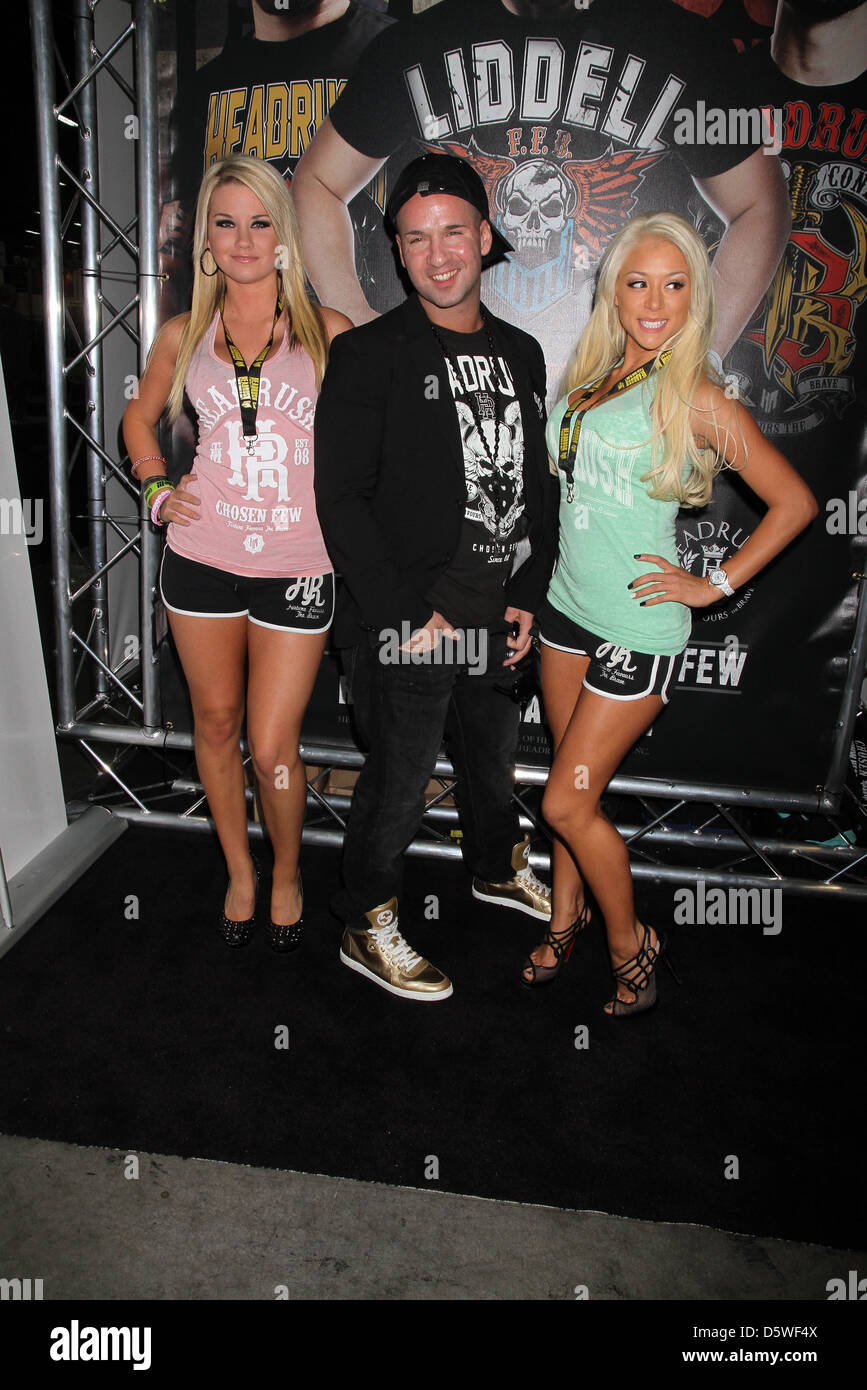 Mike 'The Situation' Sorrentino appears at the MAGIC Conference for the unveiling of Headrush Apparel's - Stock Image