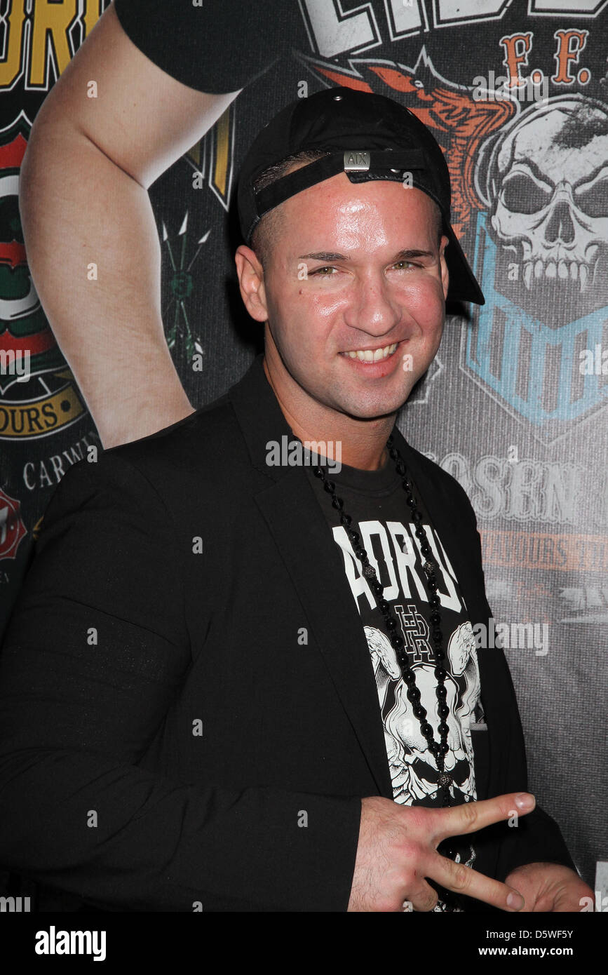 Mike 'The Situation' Sorrenti appears at the MAGIC Conference for the unveiling of Headrush Apparel's - Stock Image