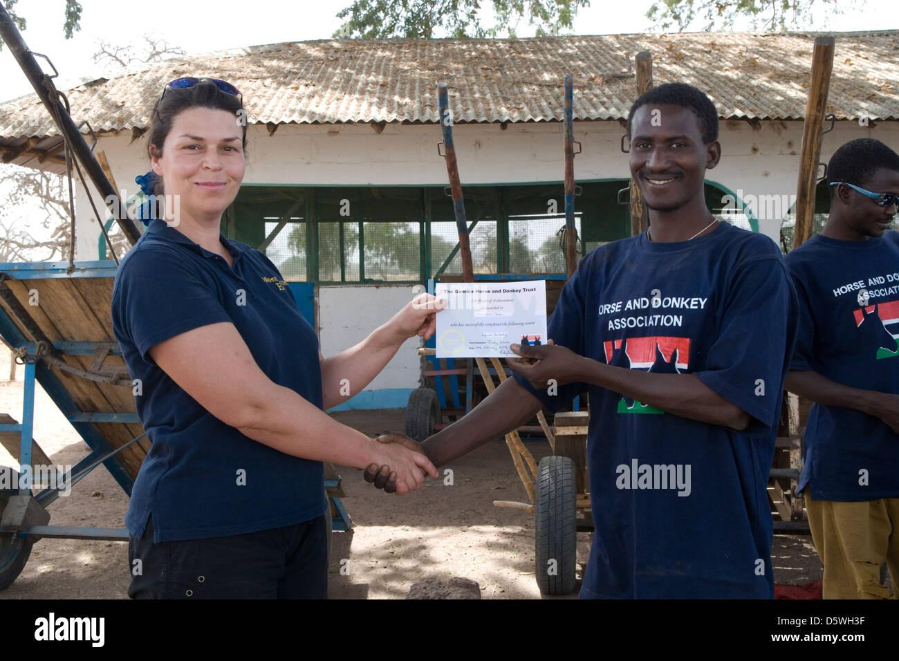 Gambia: Sambel Kunda village - Stock Image