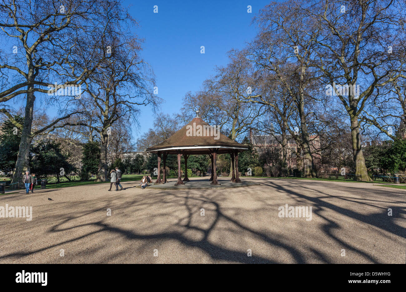 Lincoln's Inn Square, largest public square in London, Newman's Row, Holborn, London, England, UK Stock Photo