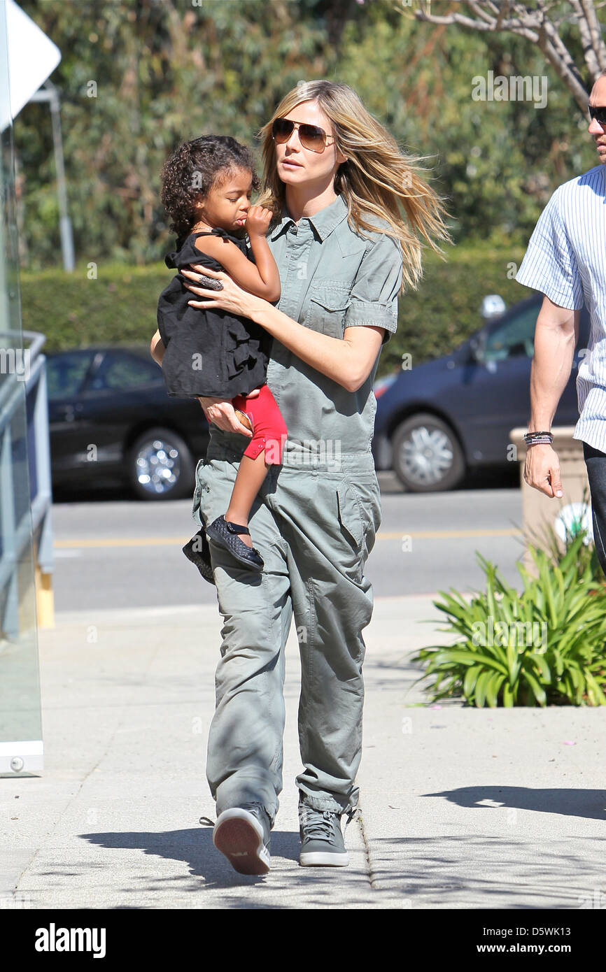 Heidi Klum and daughter Lou Sulola are seen together as they