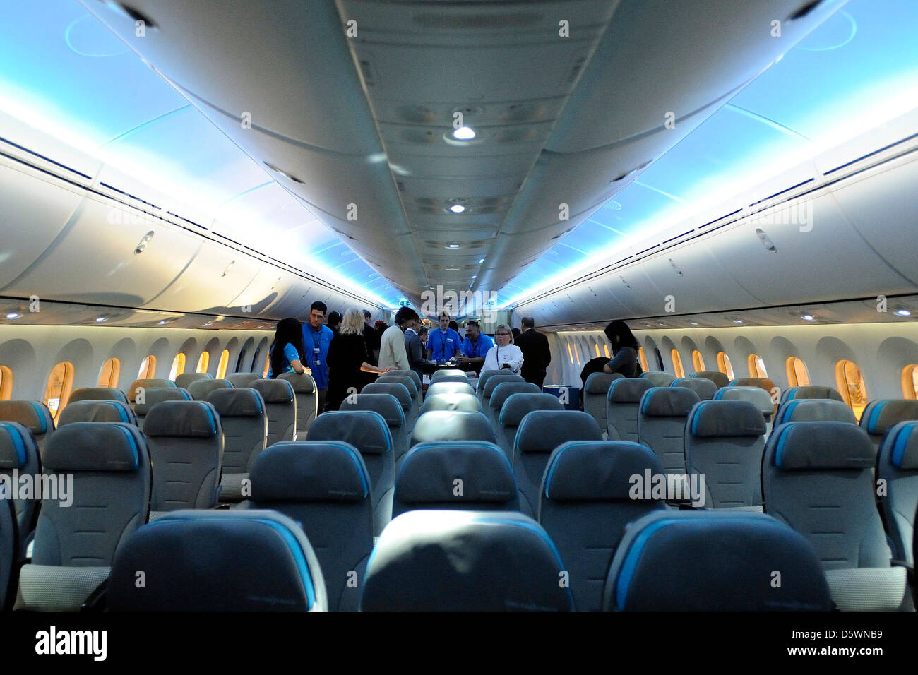 Interior of Boeing Dreamliner 787 Air Canada celebrates its 75th ...