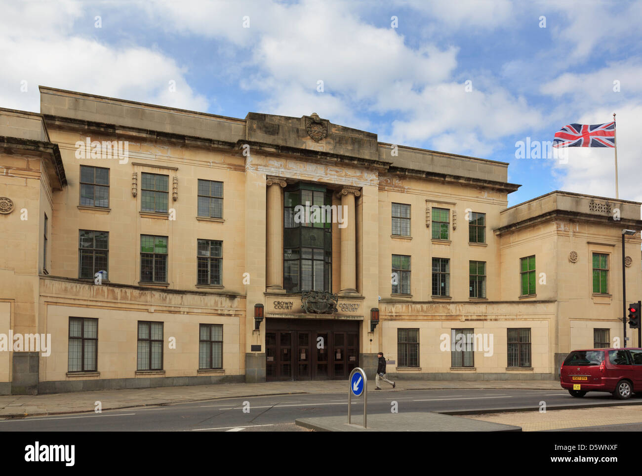 Crown Court and County Court building in Oxford, Oxfordshire, England, UK, Britain - Stock Image