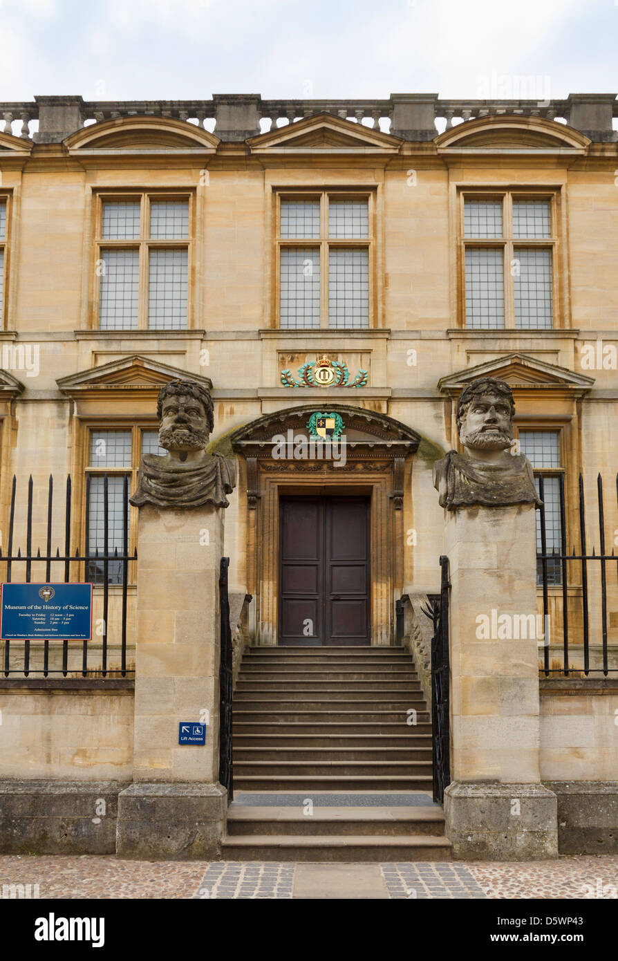 Steps to Museum of the History of Science in Broad Street, Oxford, Oxfordshire, England, United Kingdom, Great Britain, - Stock Image