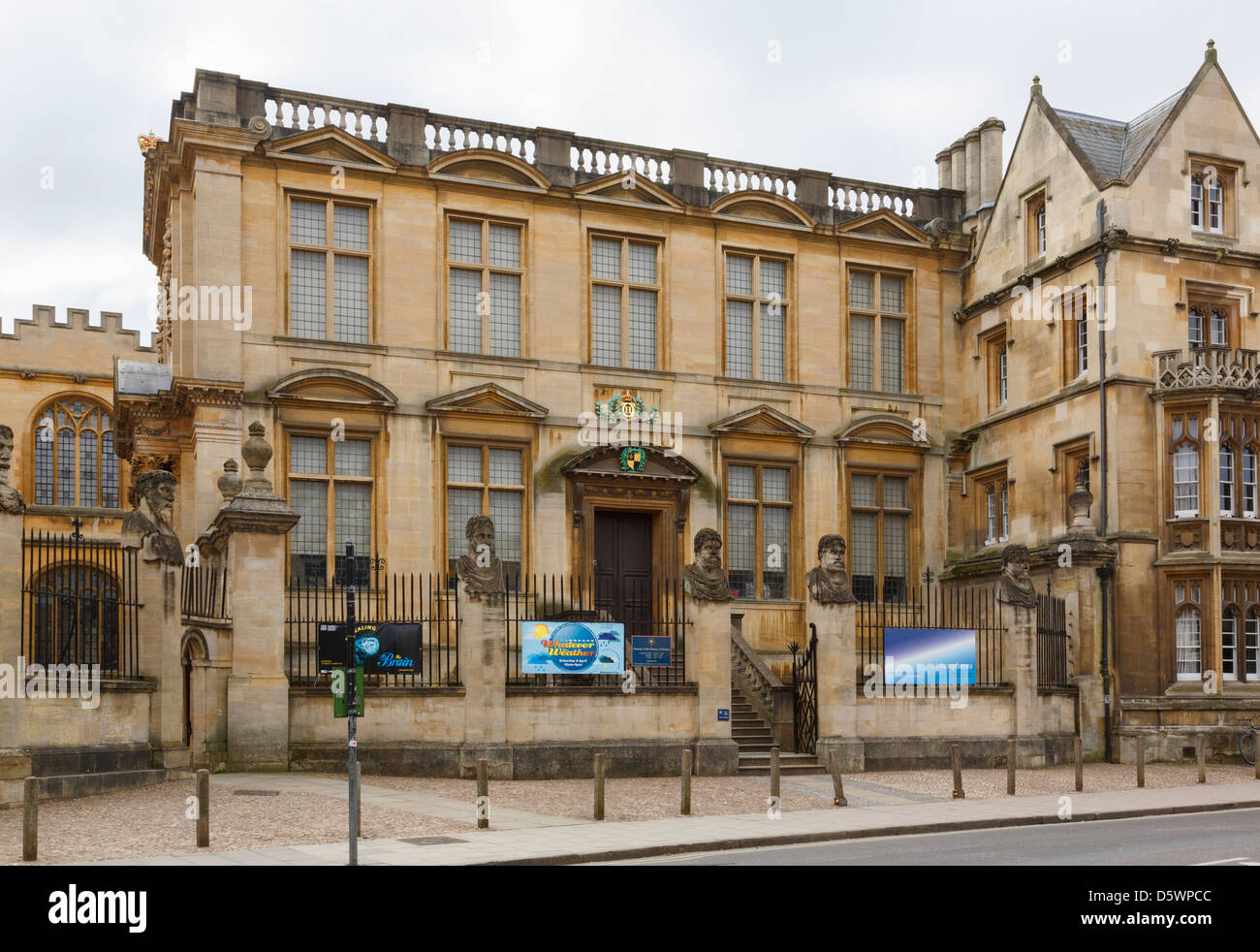 Museum of the History of Science in Broad Street, Oxford, Oxfordshire, England, UK, Britain - Stock Image