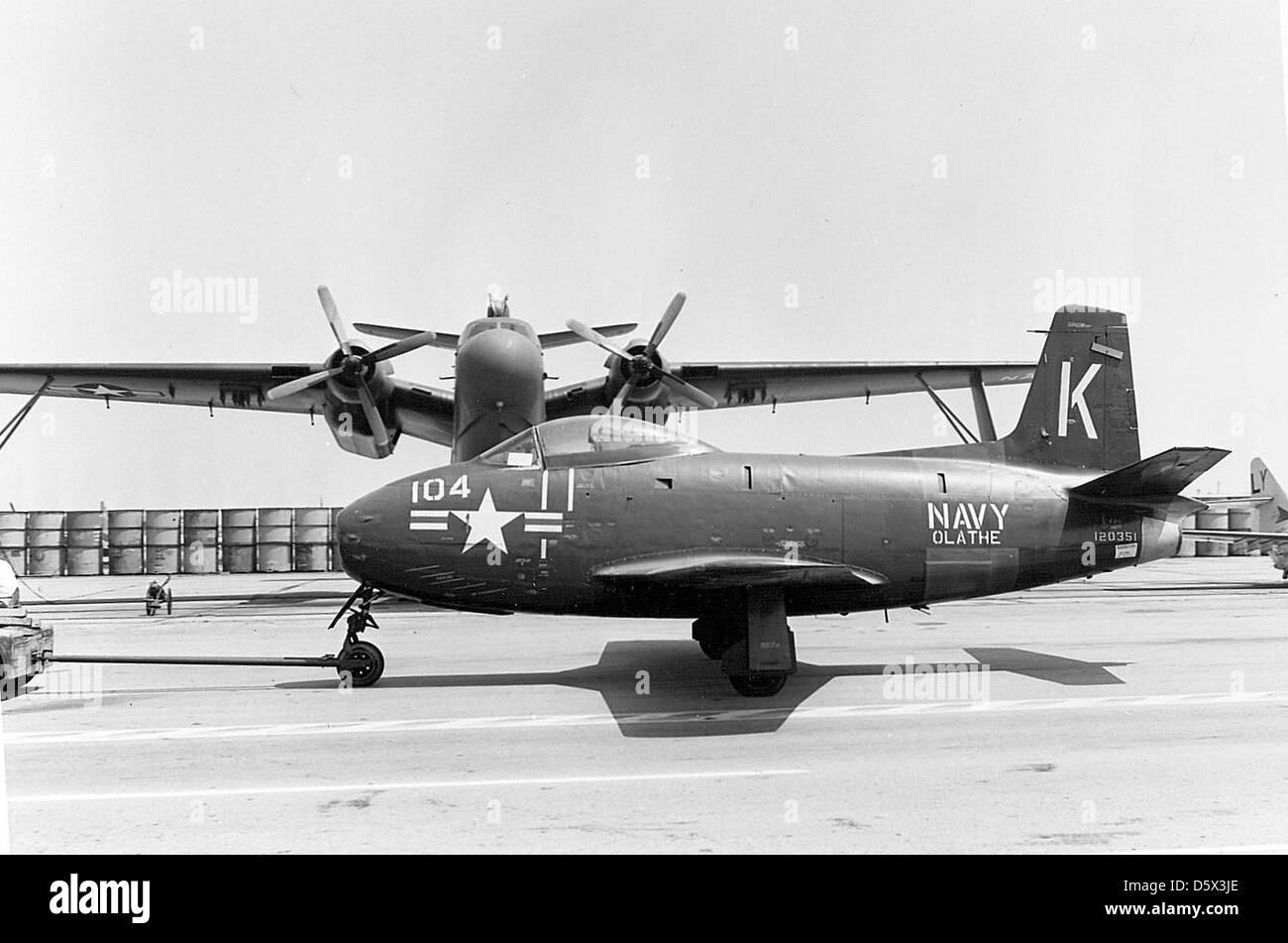 North American FJ-1 'Fury' of NARU Olathe, KS. - Stock Image