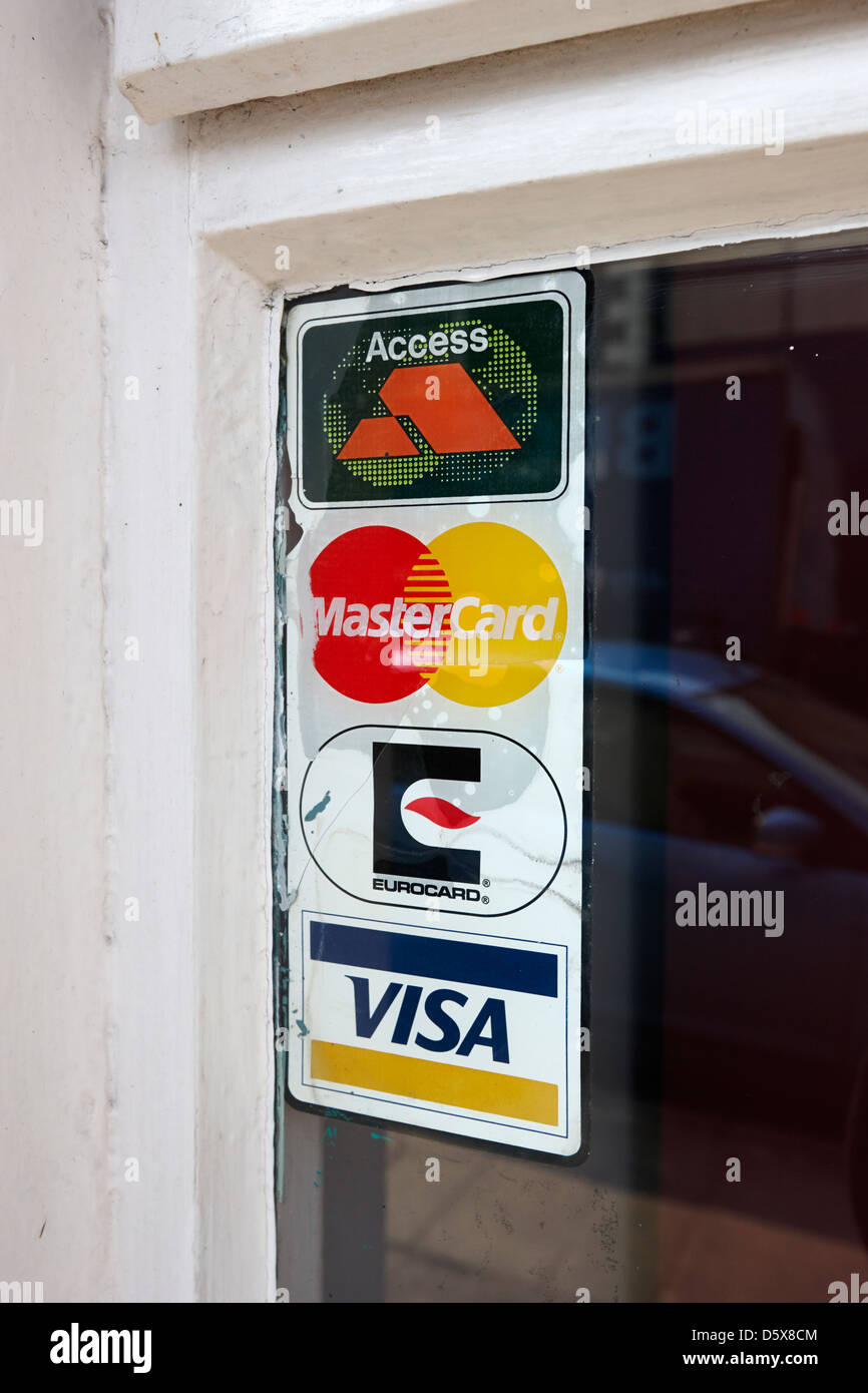 Old Access Mastercard Visa And Eurocard Credit Card Sign In The