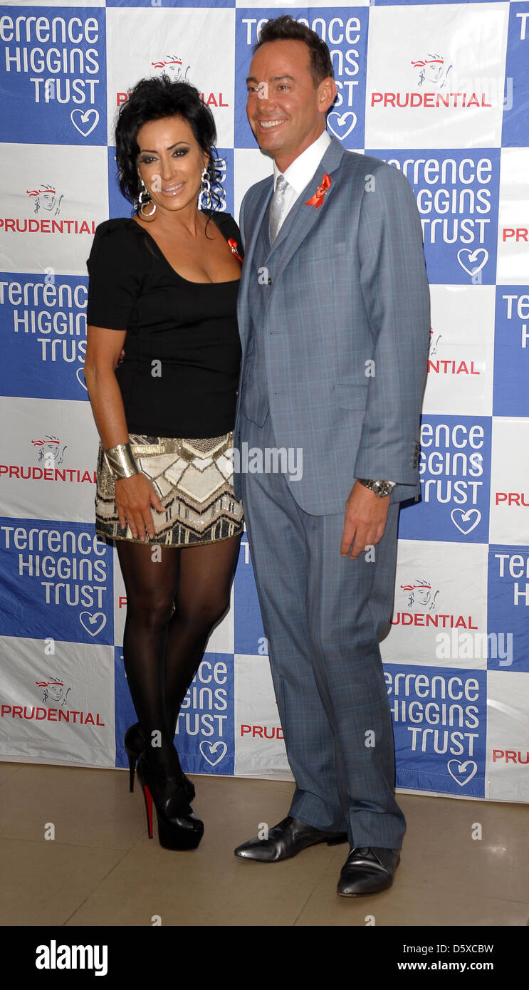 Nancy Dell'Olio and Craig Revell Horwood attending the Terrence Higgins Trust Lighthouse Gala Auction at Christie's - Stock Image