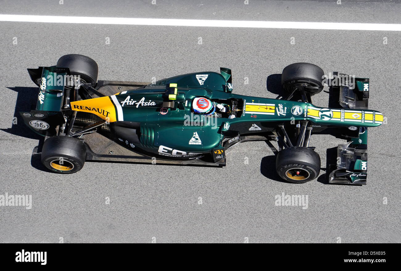 Vitaly Petrov (RUSSIA) CATERHAM F1 Team Formula One 2012, held at Circuit de Catalunya Barcelona, Spain - 12.05.12 - Stock Image
