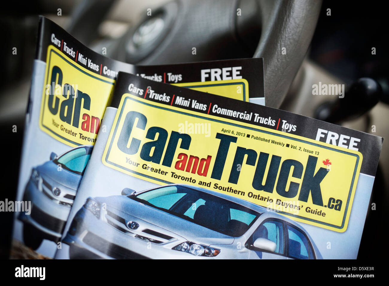 Car and Truck booklets, brochures, Ontario, Canada - Stock Image
