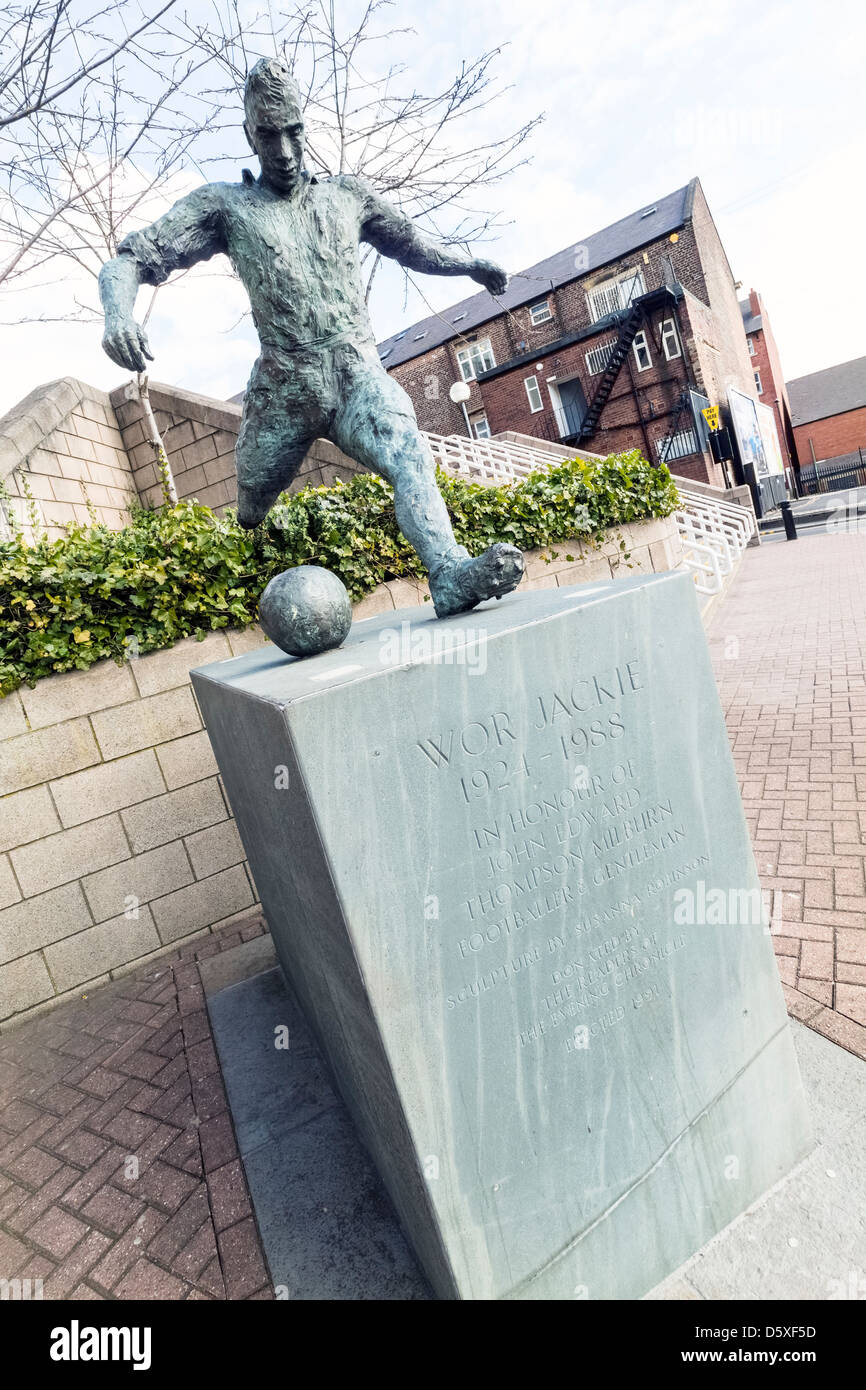 Wor Jackie statue at the Gallowgate St James Park, Newcastle Upon Tyne. - Stock Image