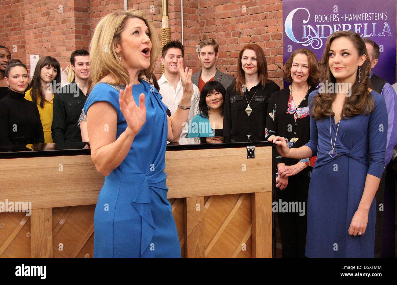 Victoria Clark and Laura Osnes Press day for the Rodgers + Hammerstein's broadway play , 'Cinderella', - Stock Image