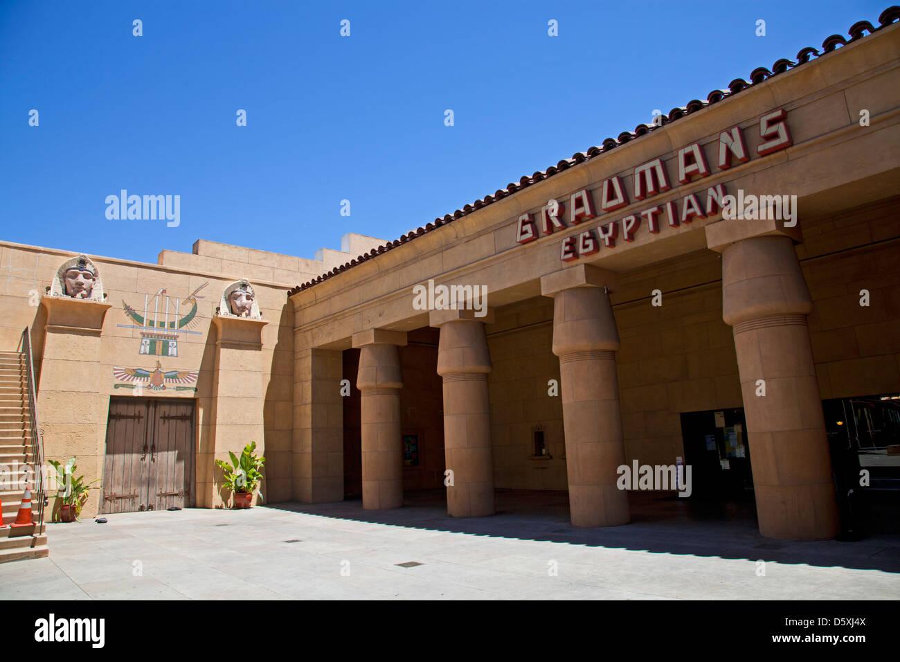 Graumans Egyptian Theatre, Hollywood Blvd, Los Angeles, California, USA - Stock Image