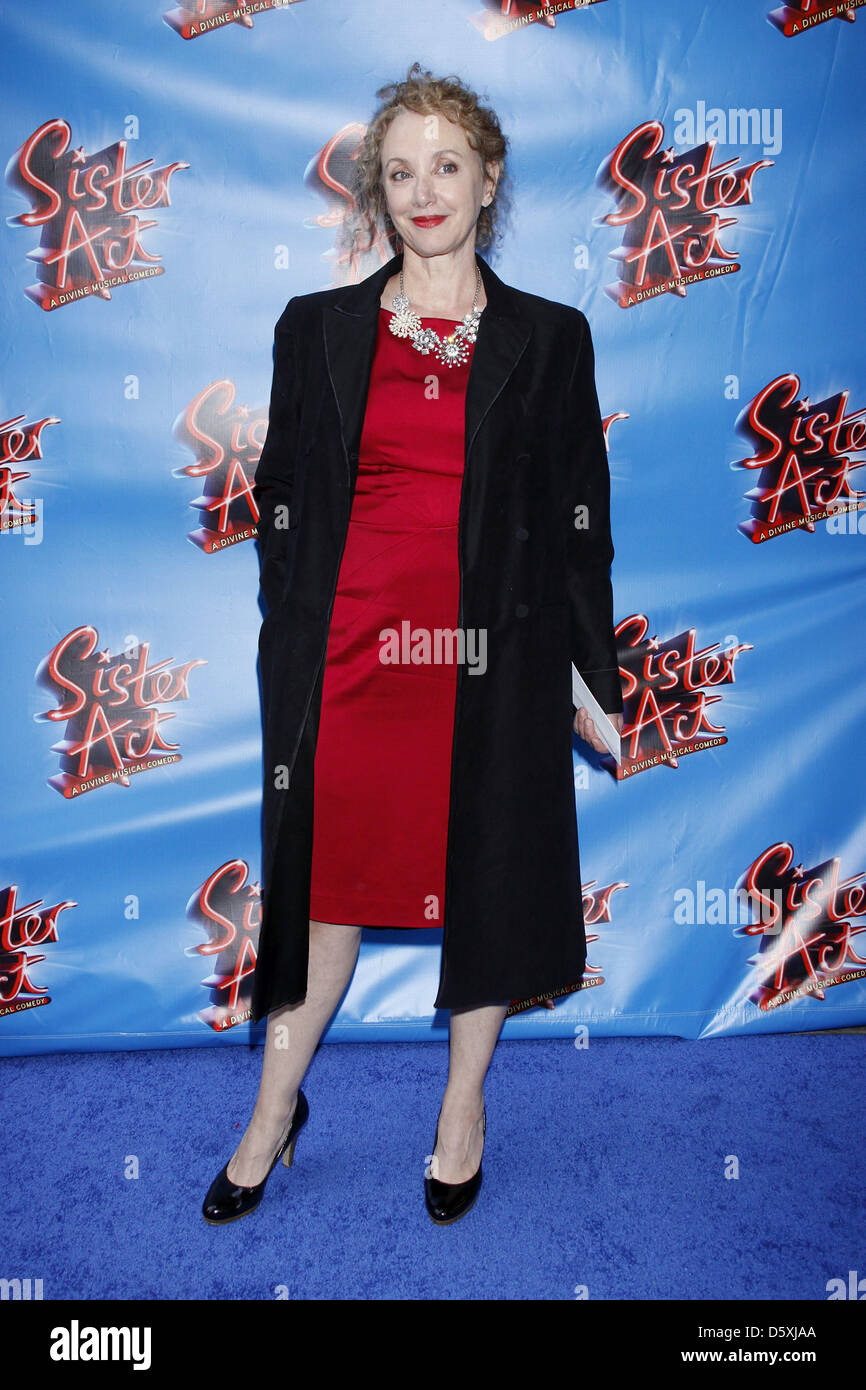 J. Smith-Cameron Opening night of the Broadway musical production of 'Sister Act' at the Broadway Theatre - Stock Image