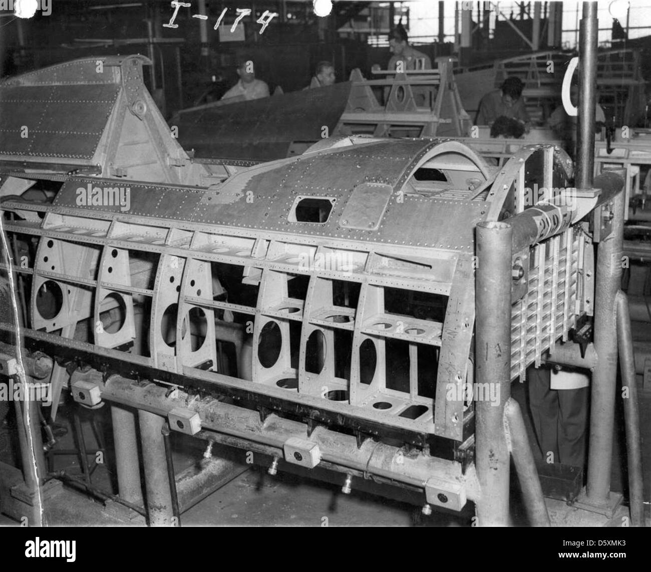 Republic P-47B 'Thunderbolt' center fuselage assemby. - Stock Image