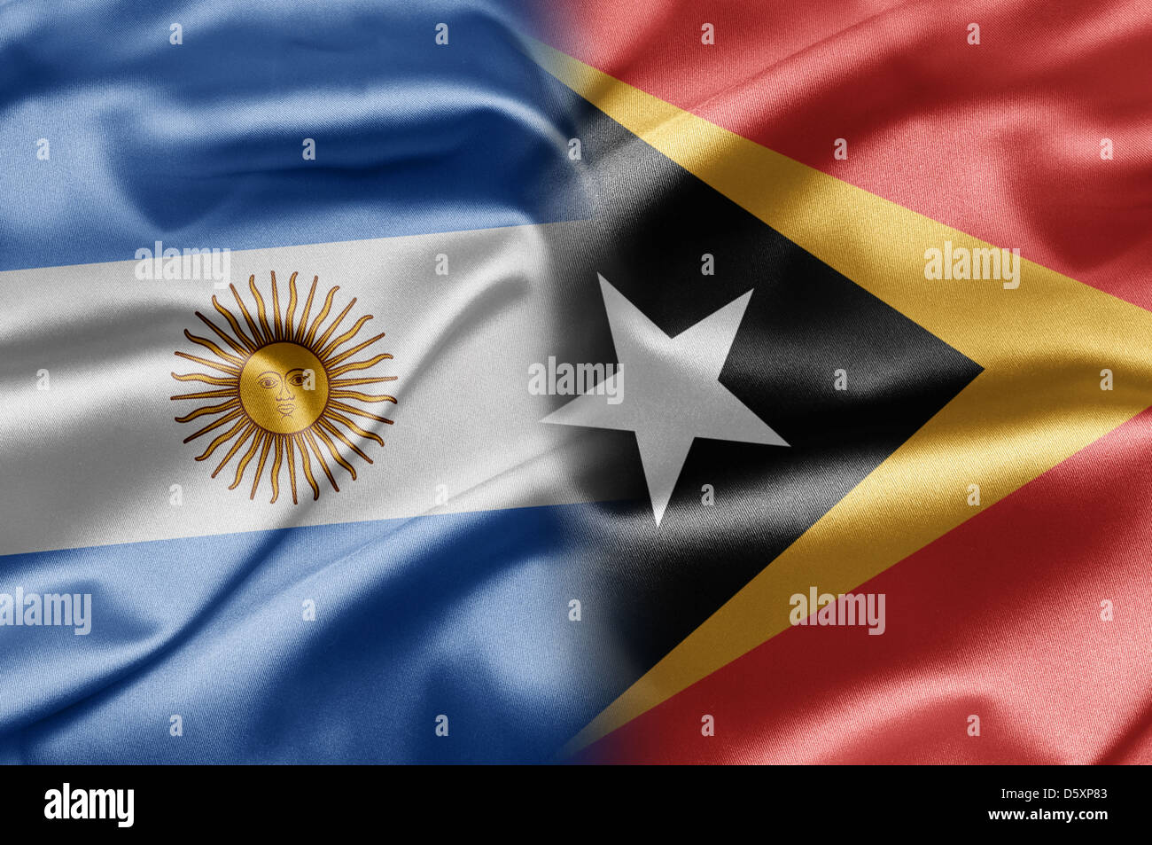 Argentina and East Timor - Stock Image