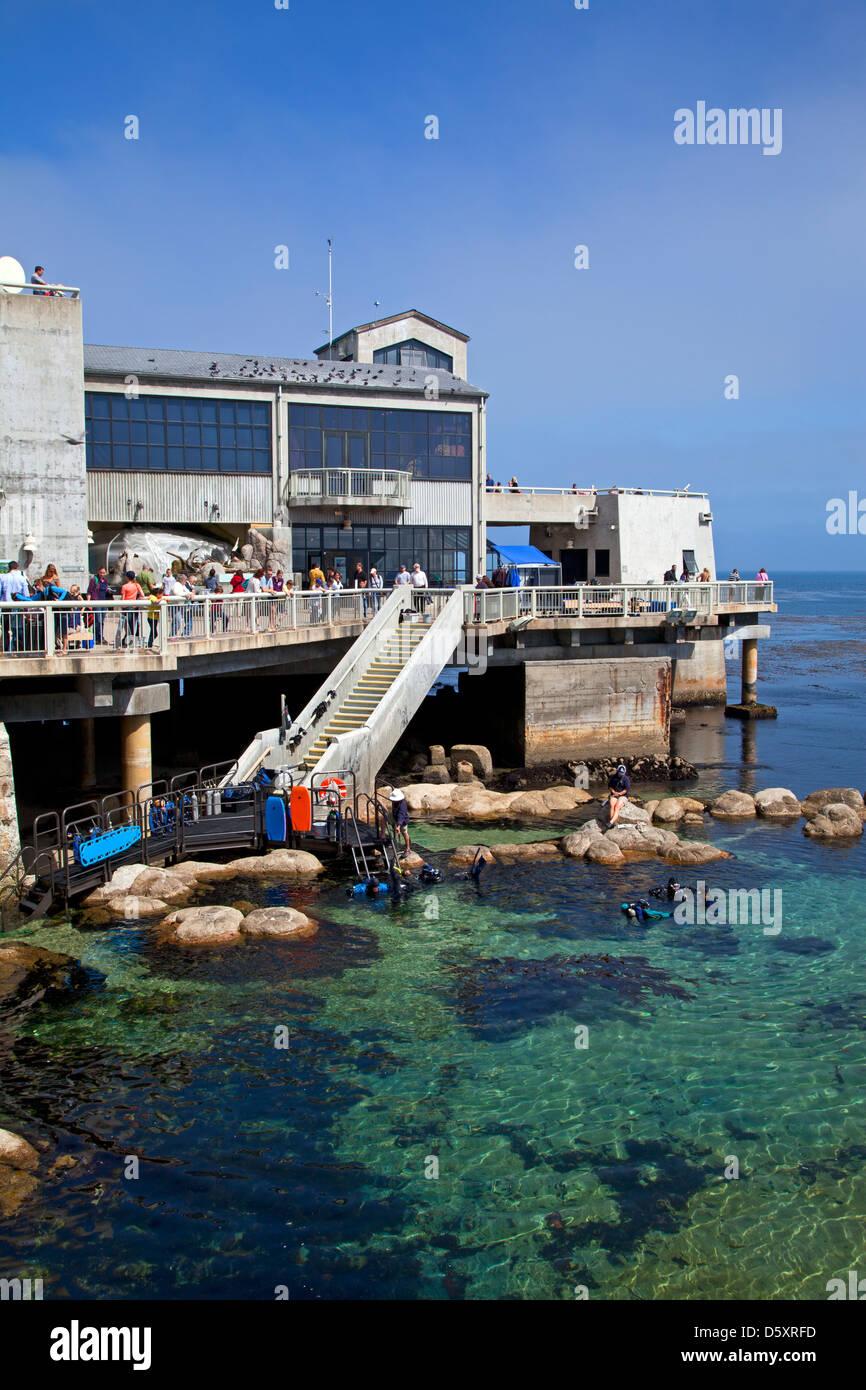 Monterey Bay Aquarium, Monterey, California, USA - Stock Image