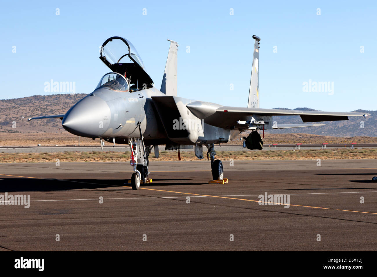 Oregon Air National Guard F-15 Eagle of the 173rd Fighter Wing - Stock Image