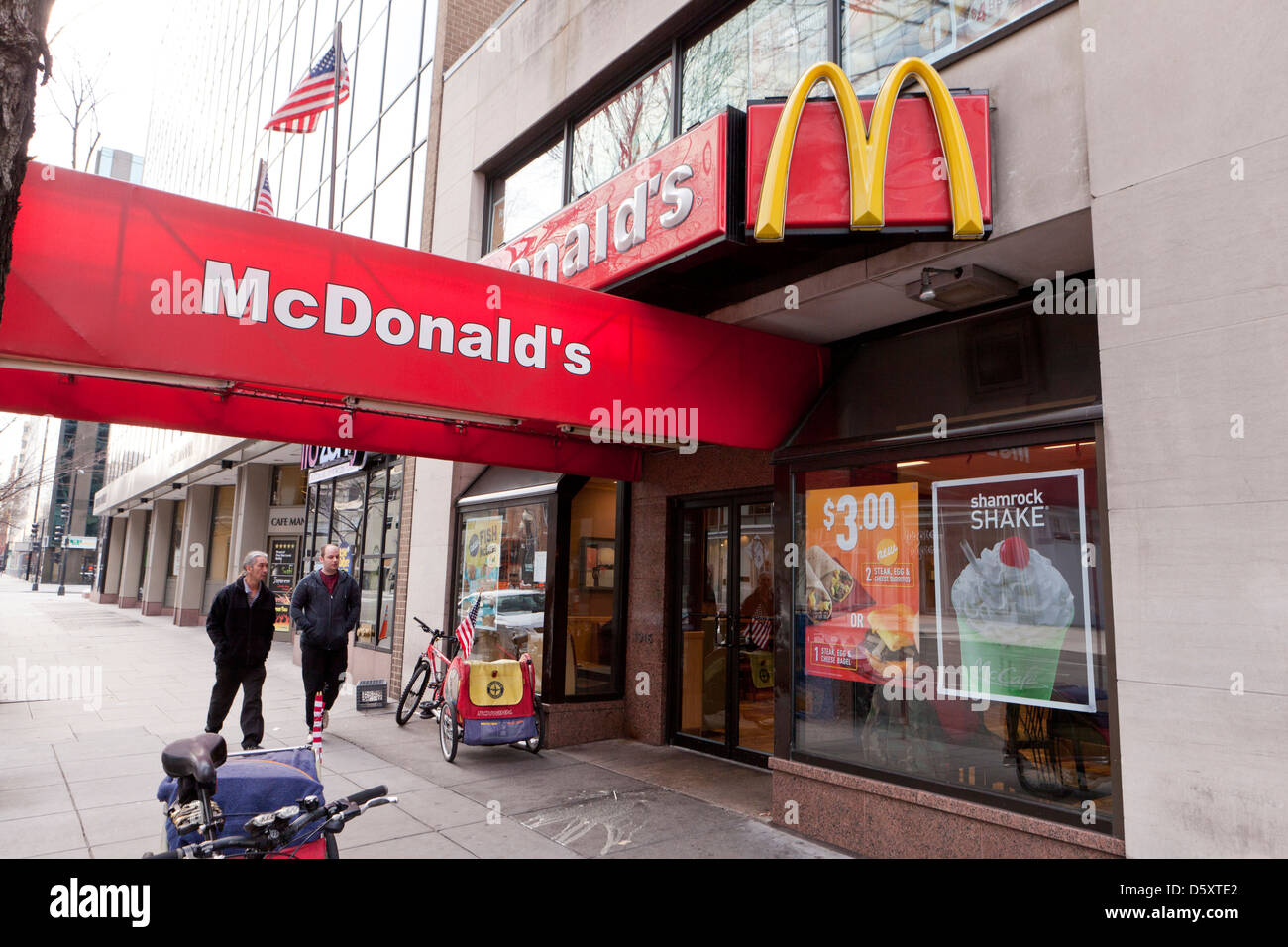 McDonald's storefront - Stock Image