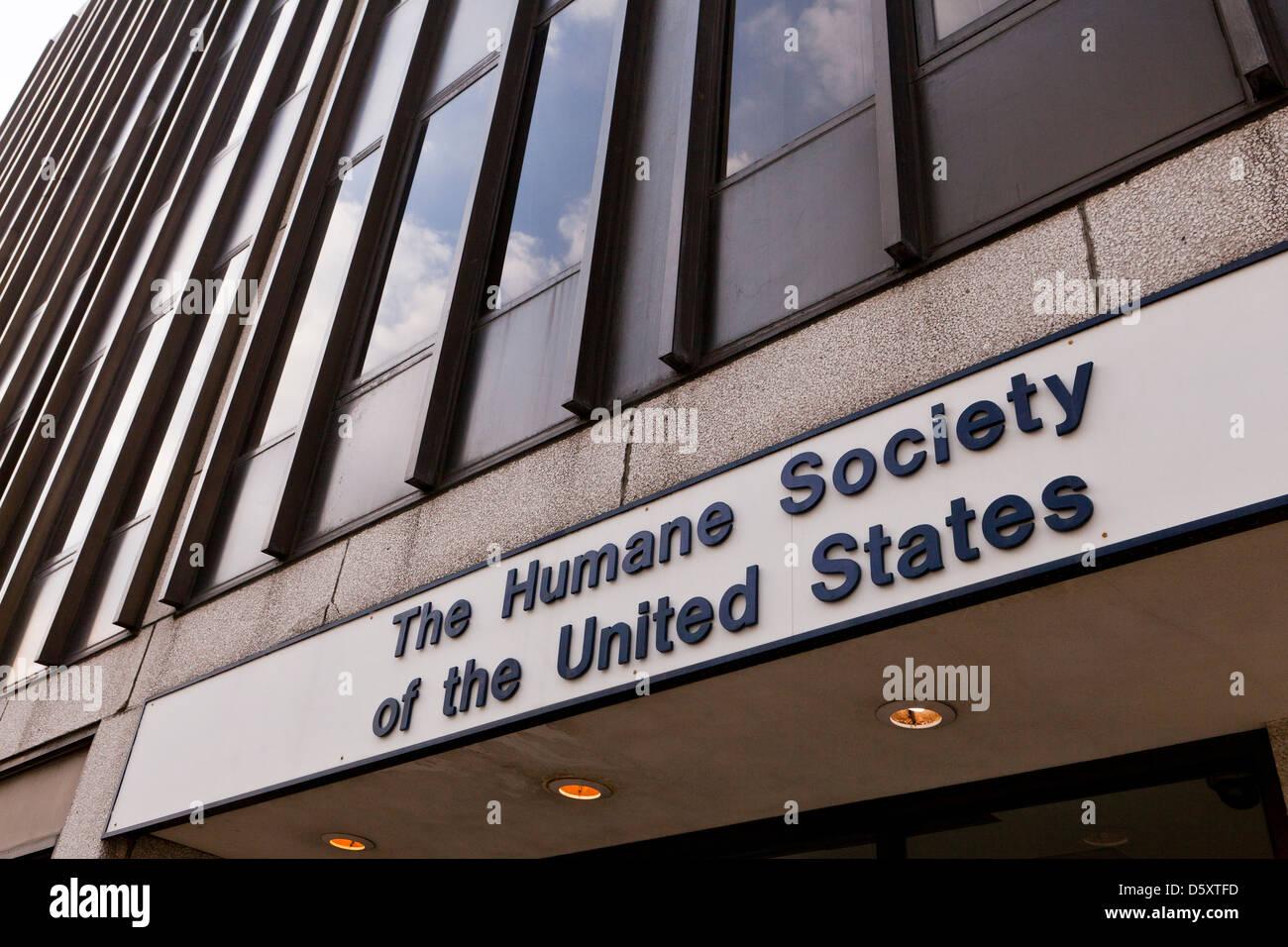 The Humane Society headquarters building, Washington DC - Stock Image