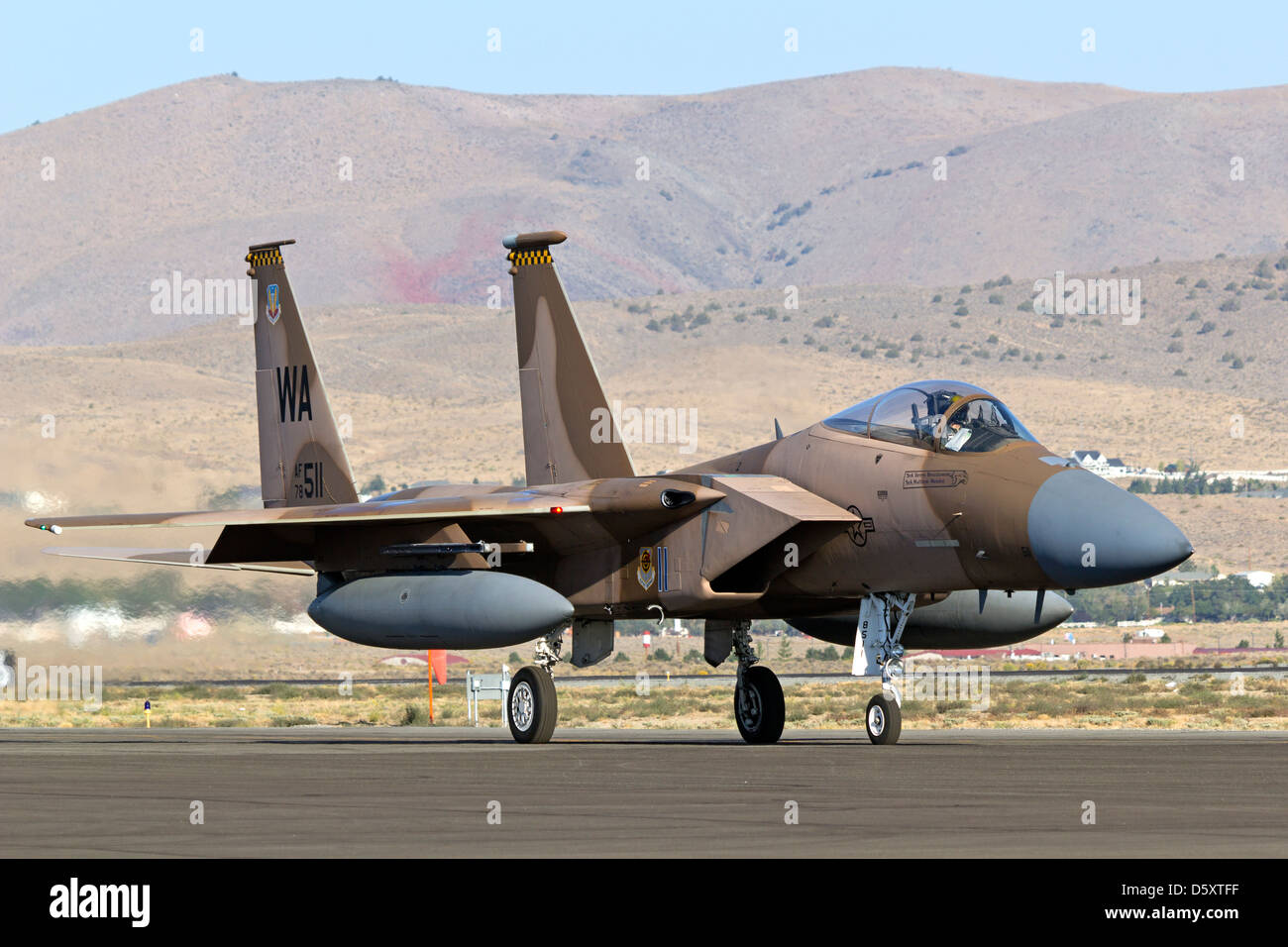 F-15 Eagle of the 57th Adversary Tactics Group based at Nellis AFB. - Stock Image