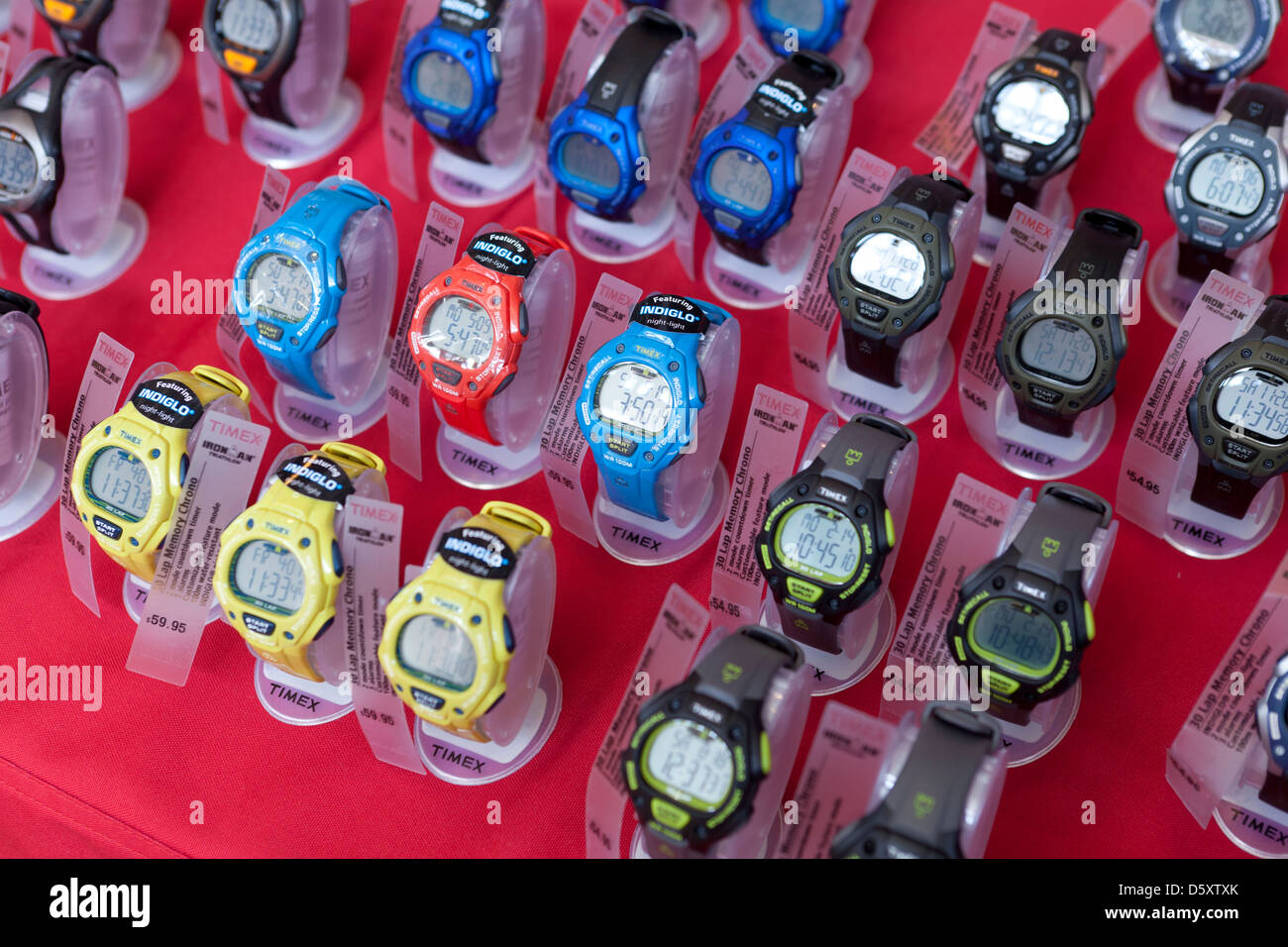 Timex watches on display - Stock Image