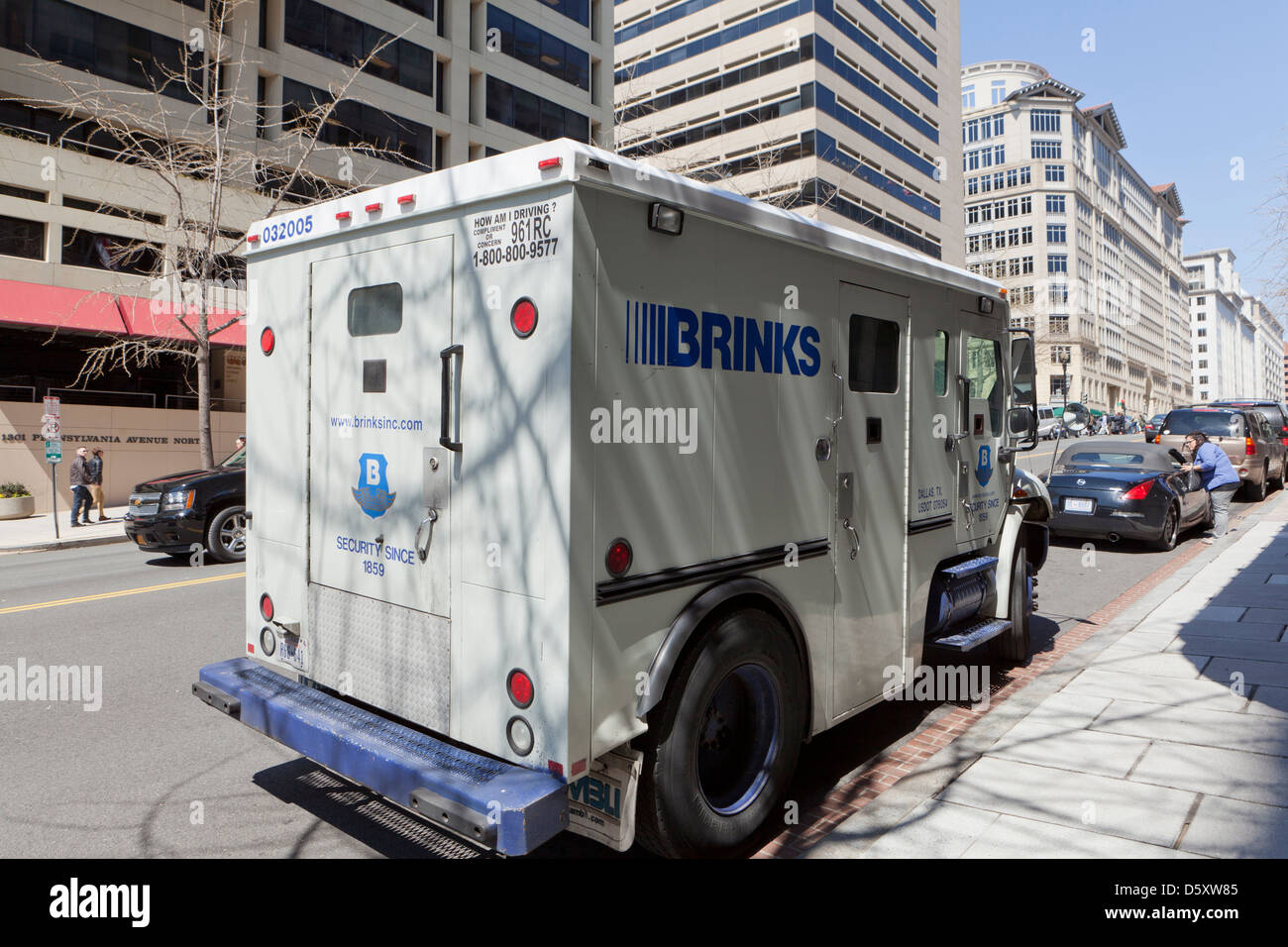 Brinks armored truck - Stock Image