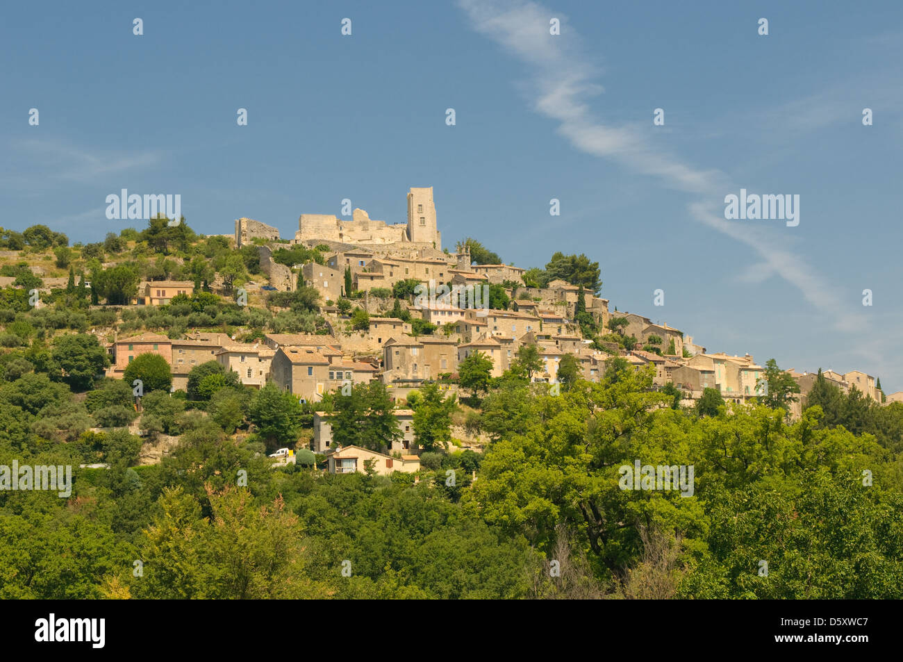 Provencal village of Lacoste - Stock Image