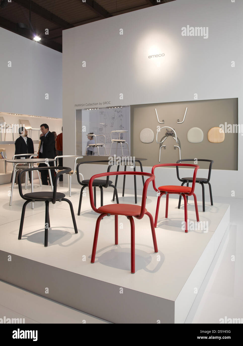 Milan, Italy. 9th April 2013. Konstantin Grcic chairs at Emeco stand during Salone Internazionale del Mobile, Furniture - Stock Image
