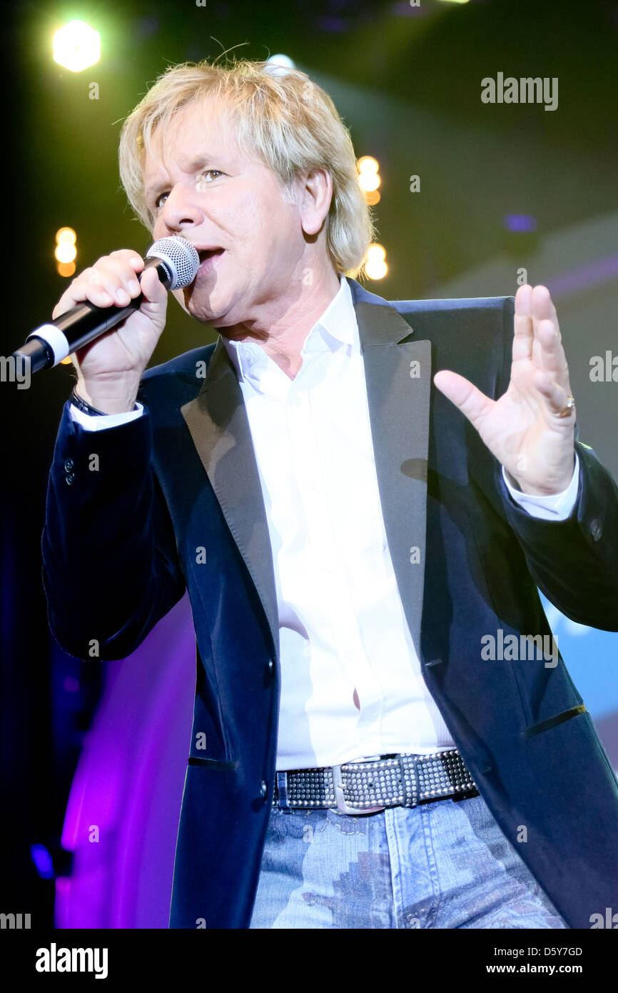 Singer G.G. Anderson peforms on stage at the folk music parade of the radio station MDR Saxony-Anhalt at GETEC Arena - Stock Image