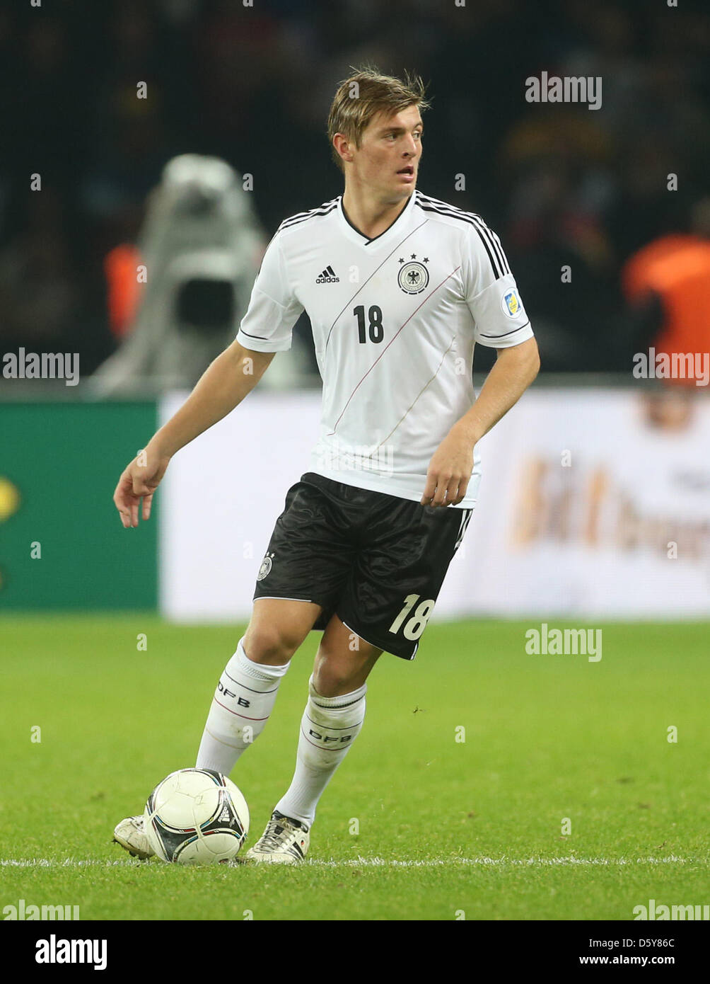 a2959d565cc Germany s Toni Kroos in action during the FIFA World Cup 2014 qualifying  soccer match between Germany and Sweden at Olympic stadium in Berlin