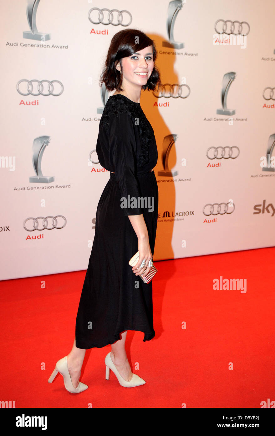 German actress Nora Tschirner poses on the red carpet at the Audi Generation Awards in Munich, Germany, 20 October - Stock Image