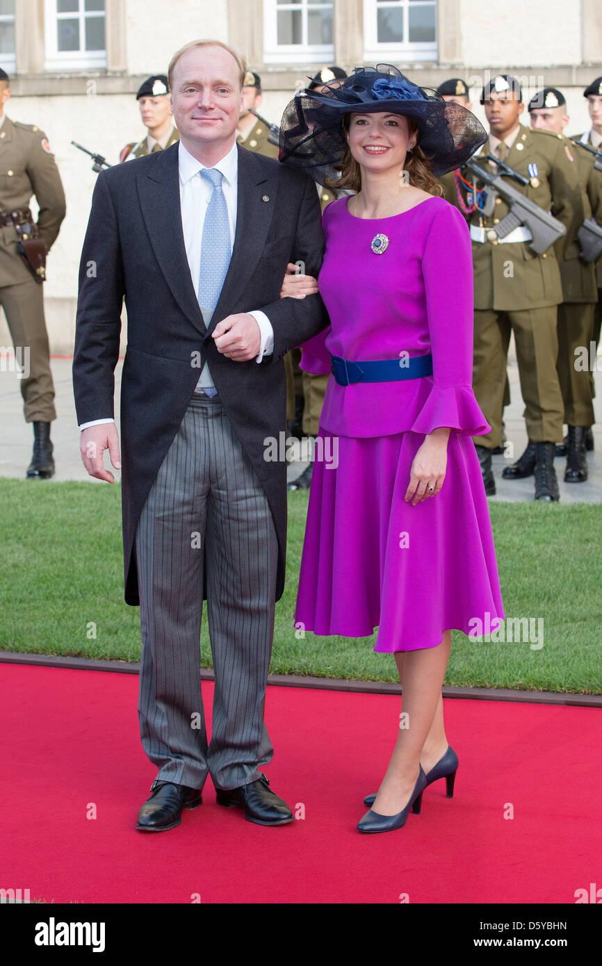 Prince Carlos and Annemarie de Bourbon de Parme, Duke and Duchess of Parma, (members of Dutch royal family) duringStock Photo