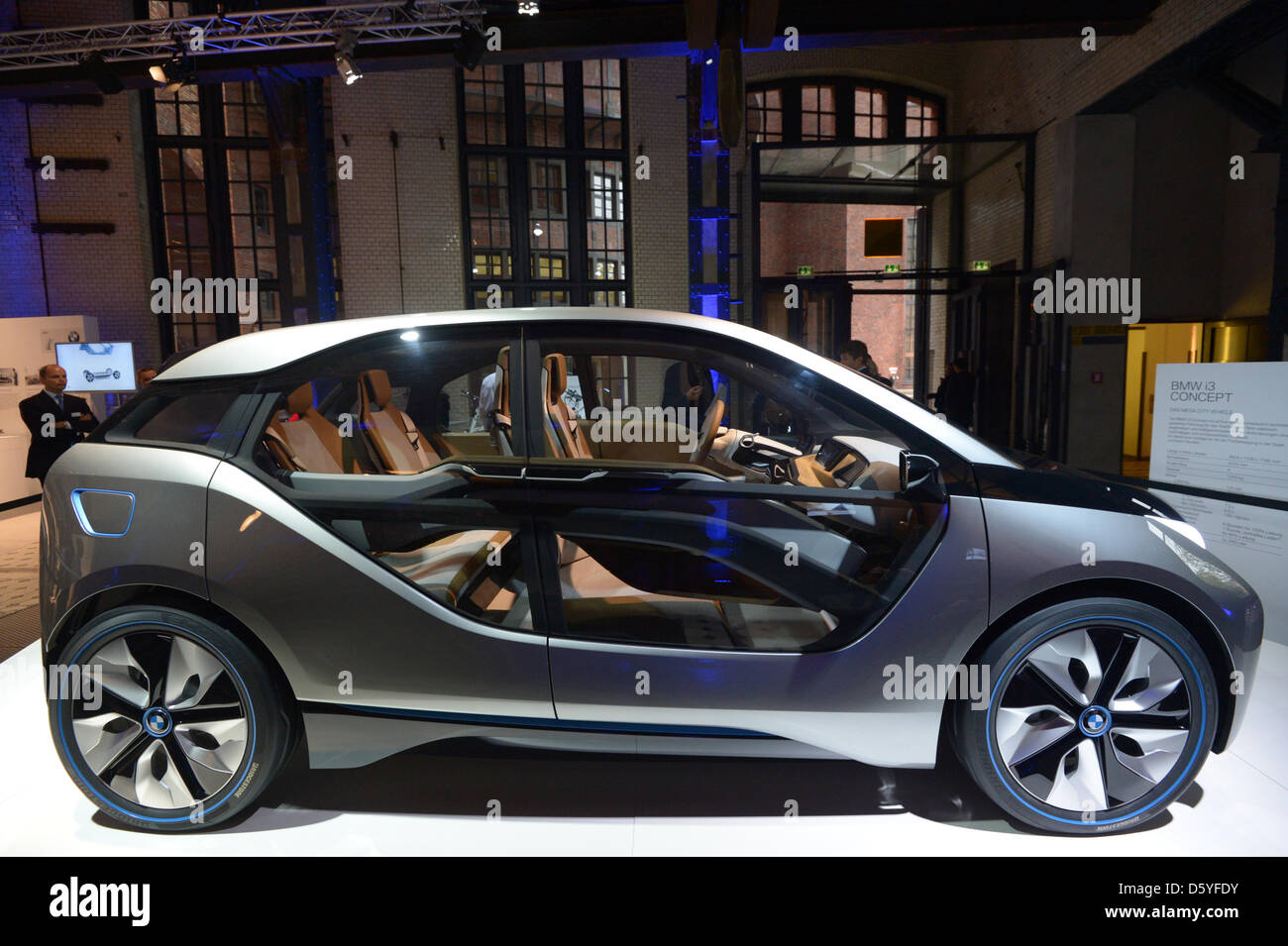 A Bmw I3 Concept Electric Car Is Unveiled At E Werk In Stock Photo