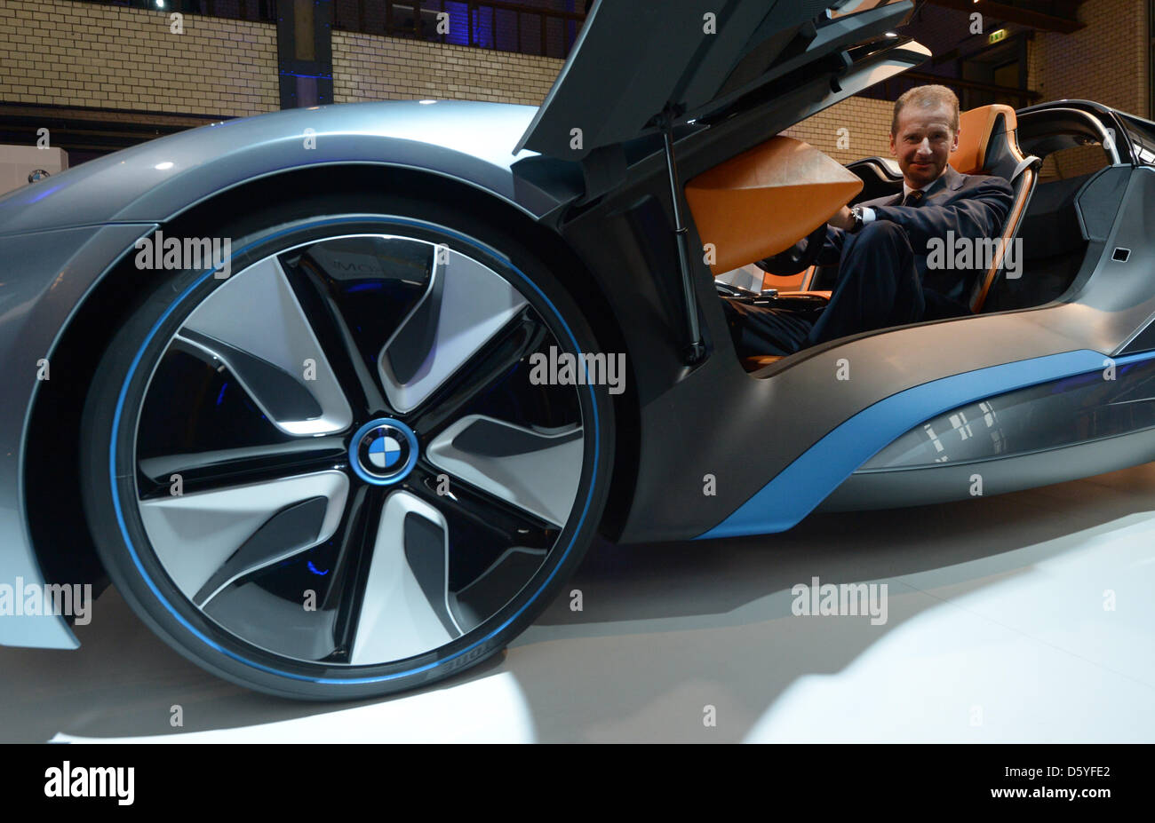 Development Director Herbert Diess Sits In A Bmw I8 Concept Electric