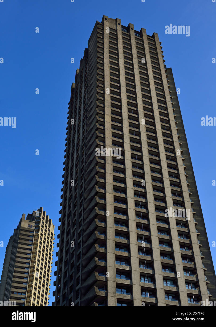 Barbican Estate, Moorgate, London EC2, United Kingdom - Stock Image