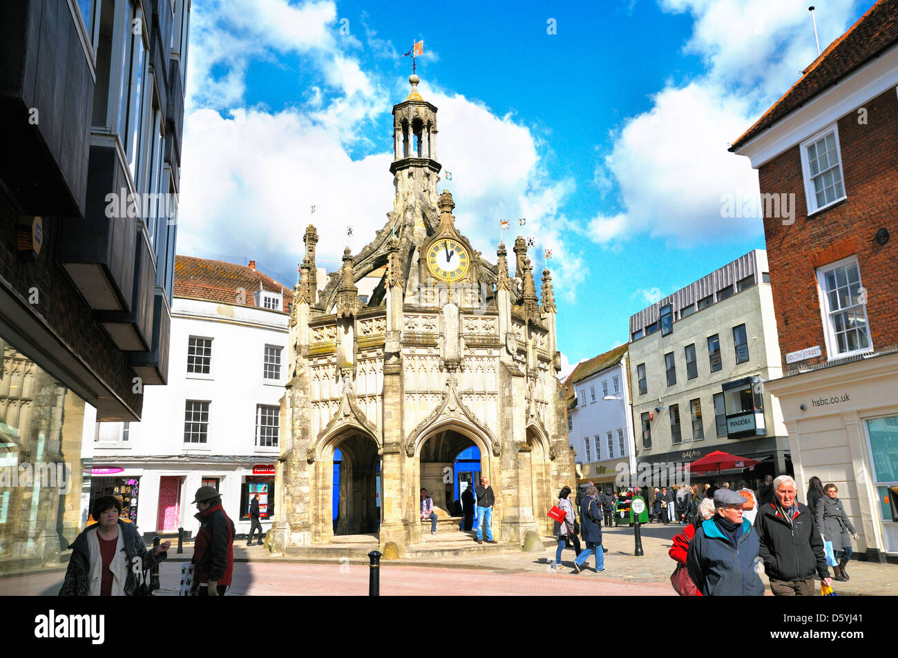 Market Cross in the city centre of Chichester, West Sussex, UK - Stock Image