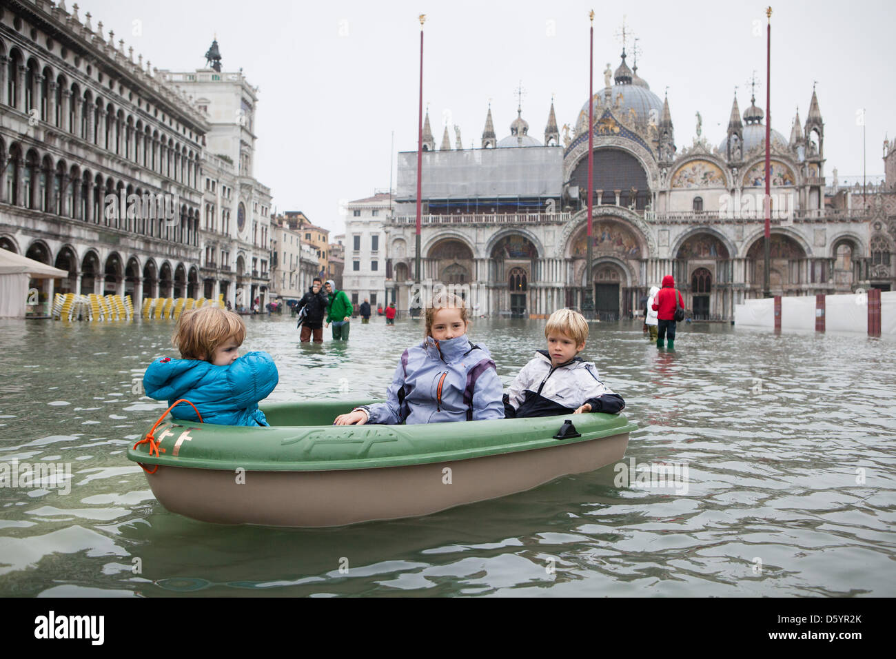The Italian town Venice is flooded, after an exceptionally ...