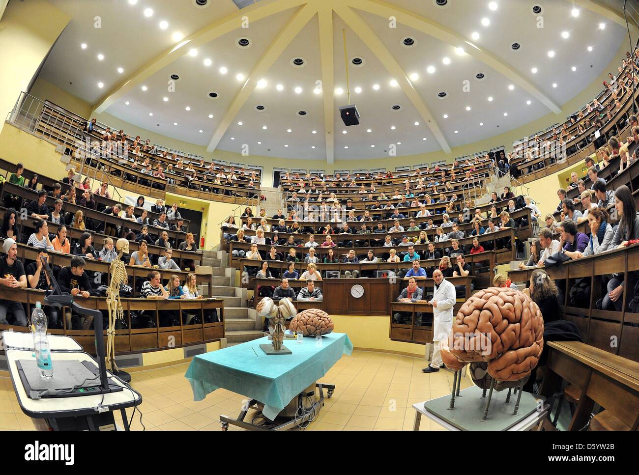 Students Of The Medicine Department Attend A Lecture At The