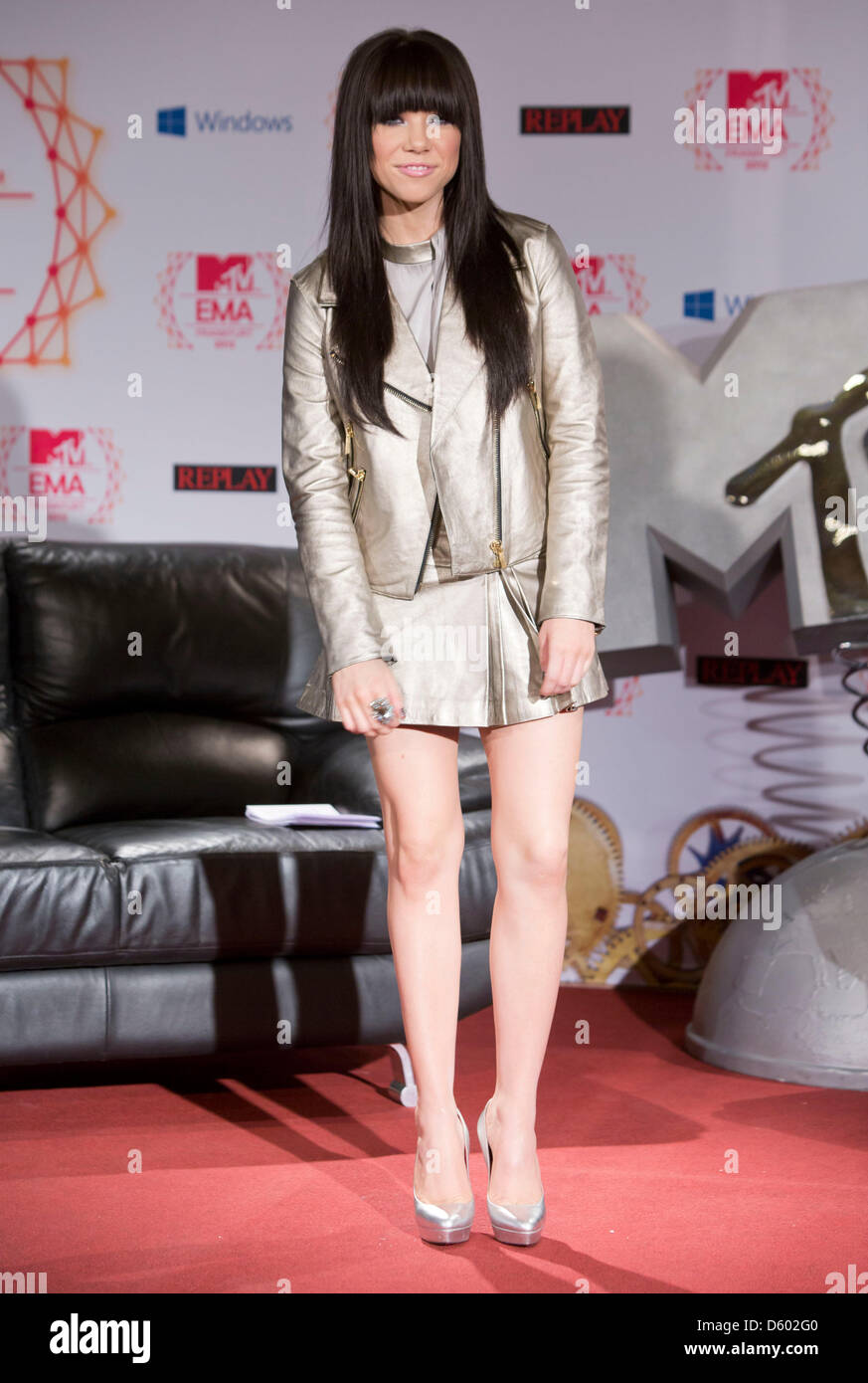 Canadian pop singer Carly Ray Jespen speaks during the press