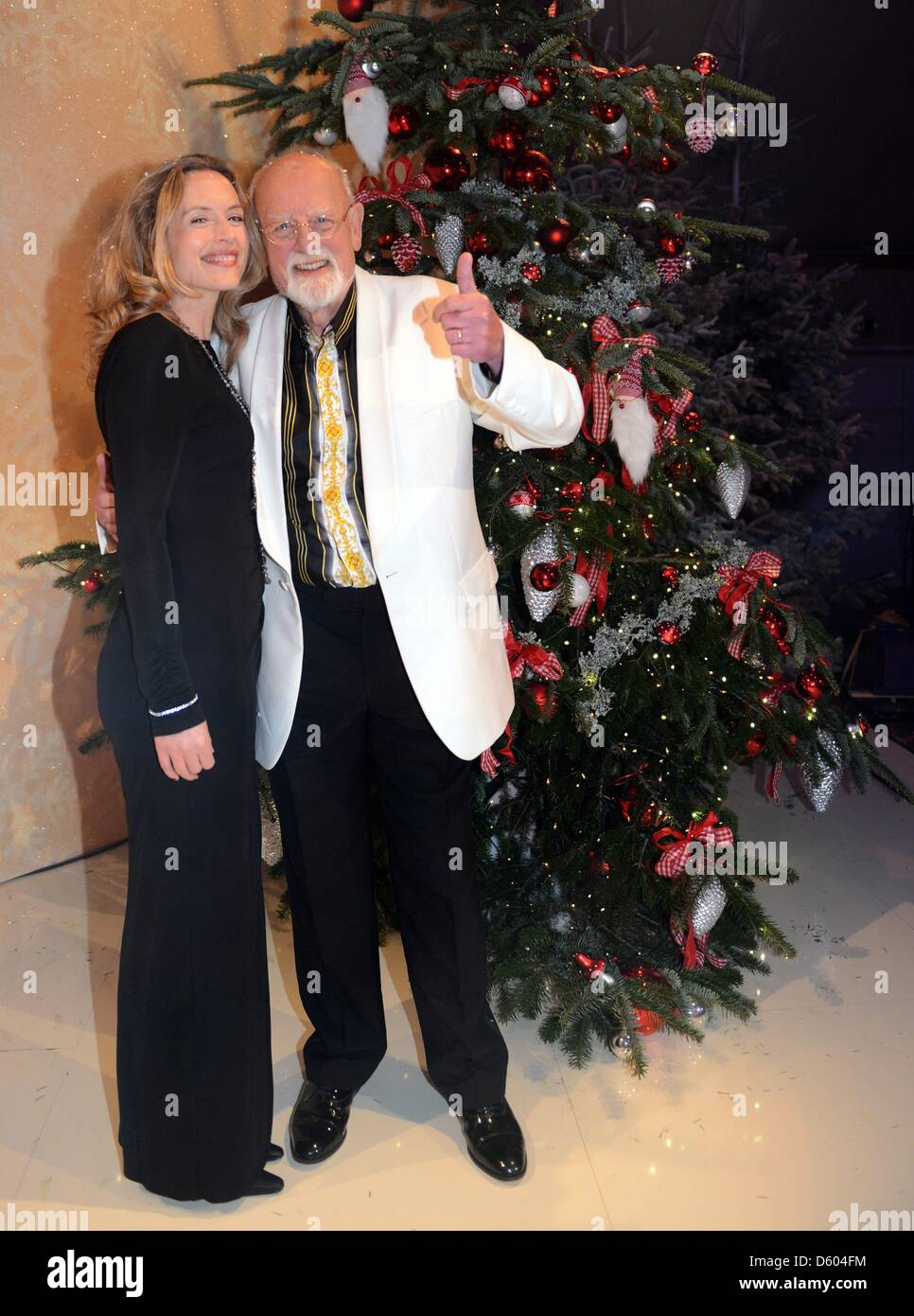 Singer Roger Whittaker and his daughter Jessica after recording a ...