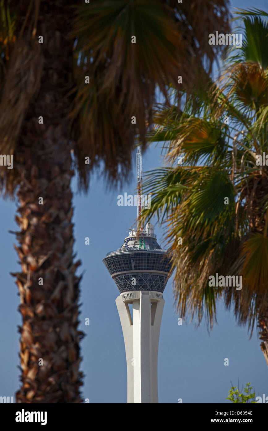 Las Vegas, Nevada - The Stratosphere hotel and casino tower. - Stock Image