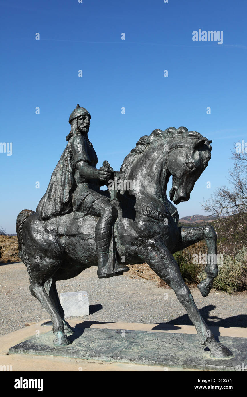 Statue of Ibn Qasi, at Mertola in Portugal's Alentejo province. Stock Photo