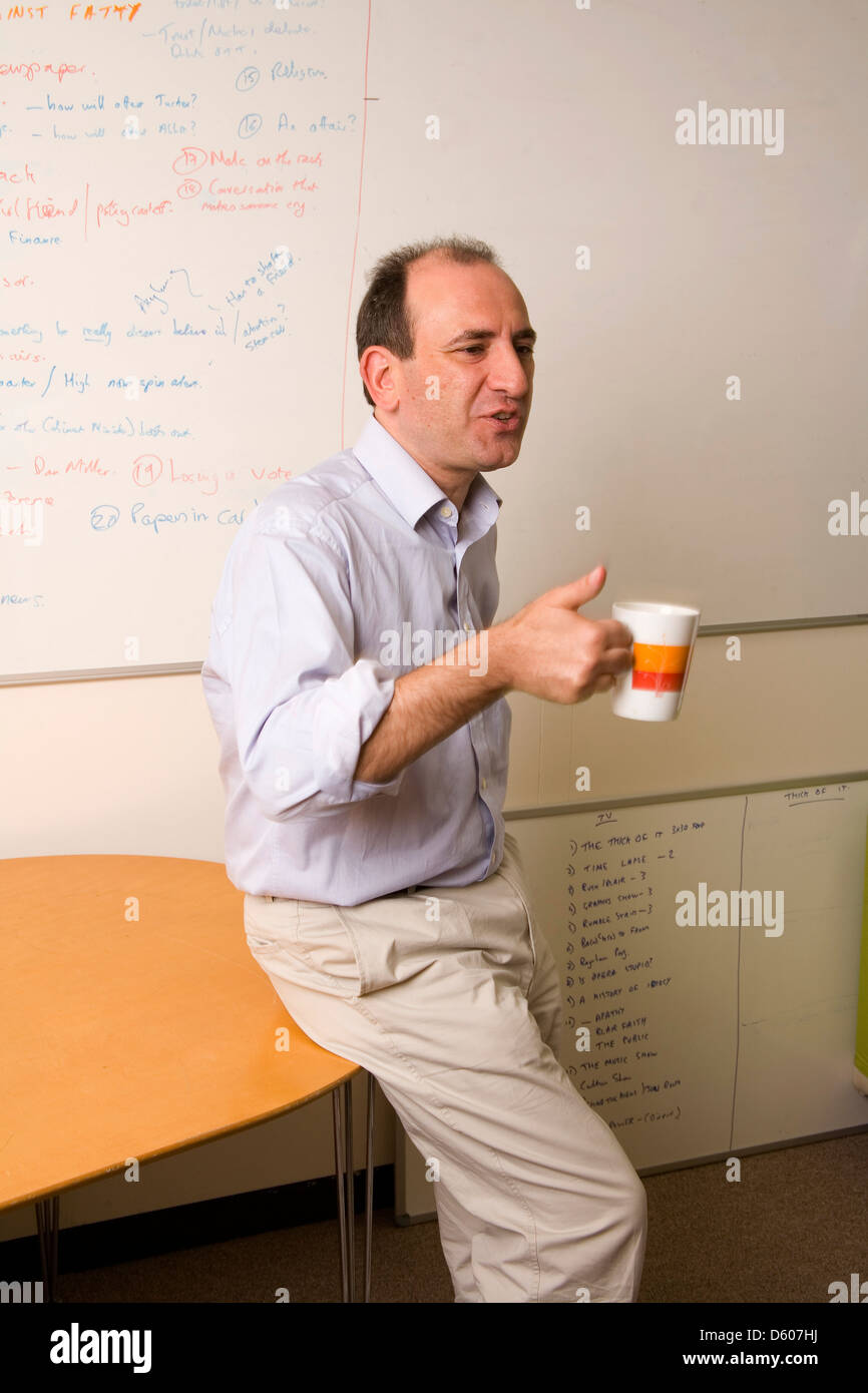 Armando Iannucci writer and director and radio producer. - Stock Image