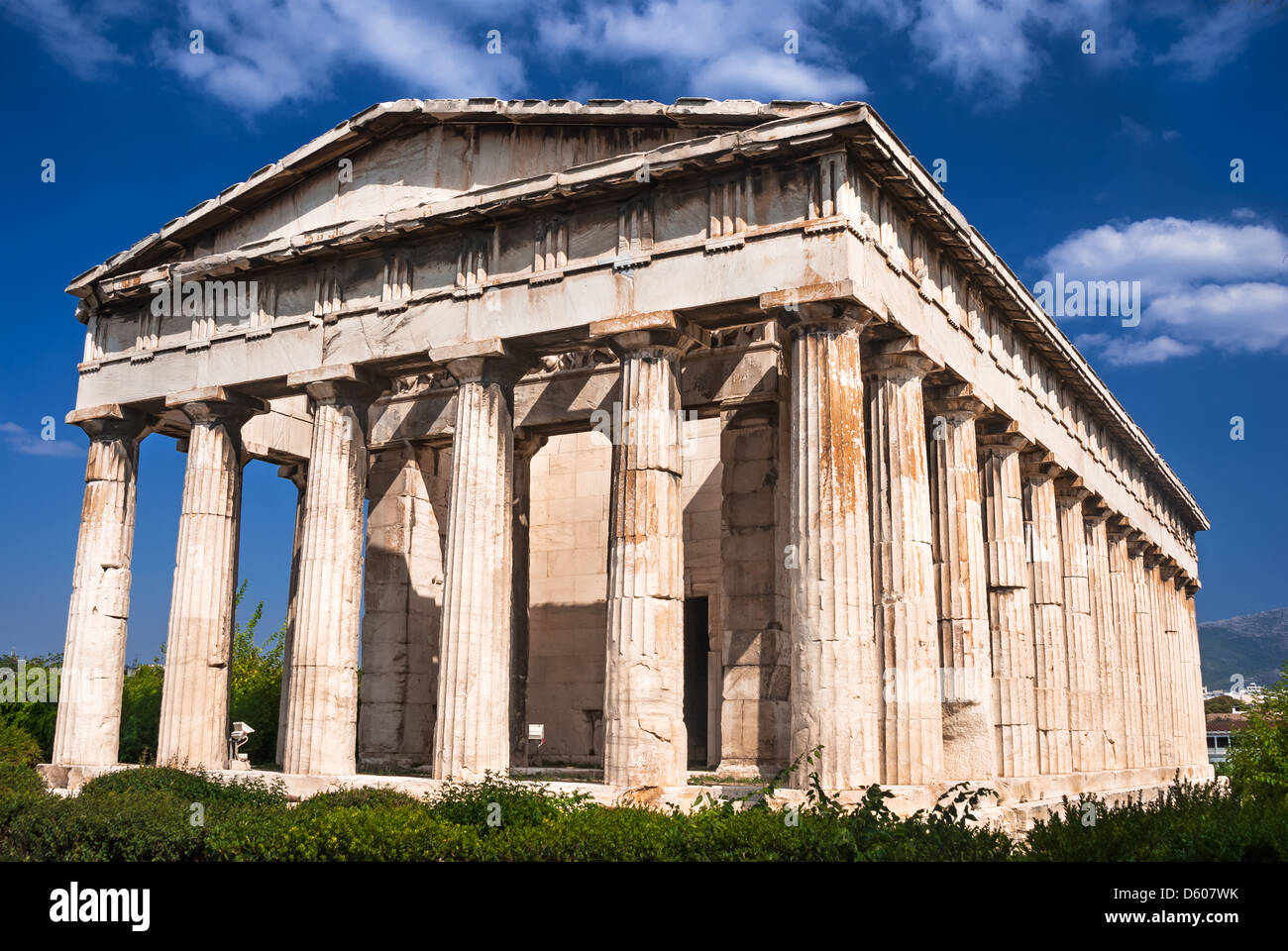 Temple of Hephaestus, is the best preserved ancient Greek temple, built in 415 BC. - Stock Image