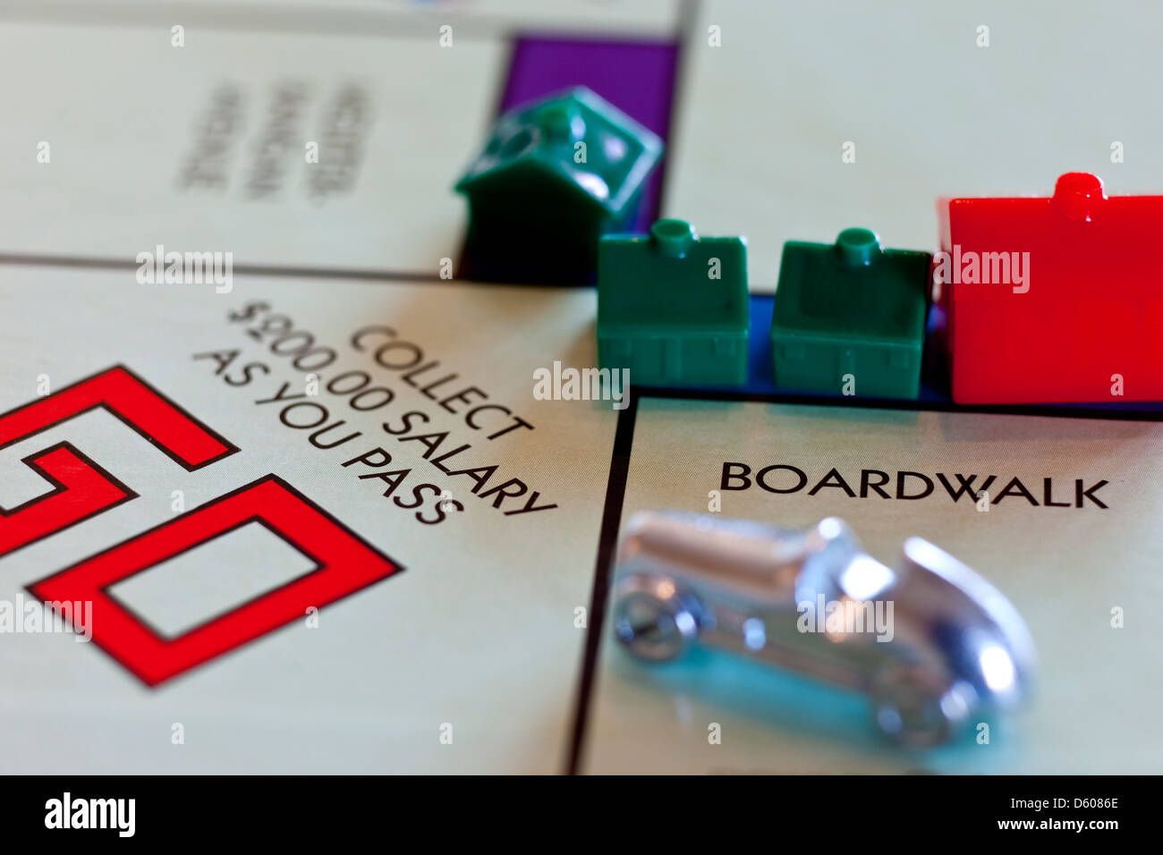 Monopoly board game - Pass Go, collect $200 - Stock Image